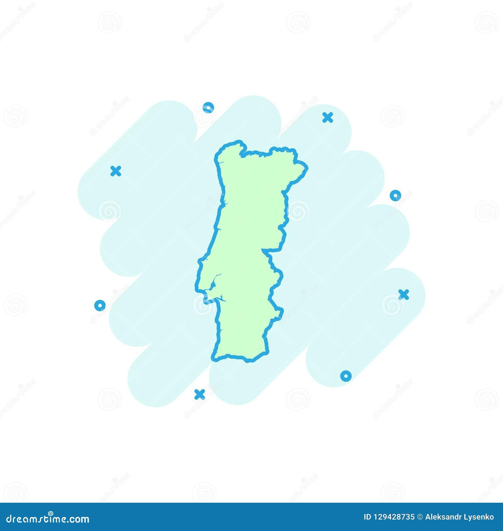 Vector O Icone Do Mapa De Portugal Dos Desenhos Animados No Estilo Comico Sinal De Portugal Mim Ilustracao Do Vetor Ilustracao De Desenhos Estilo 129428735