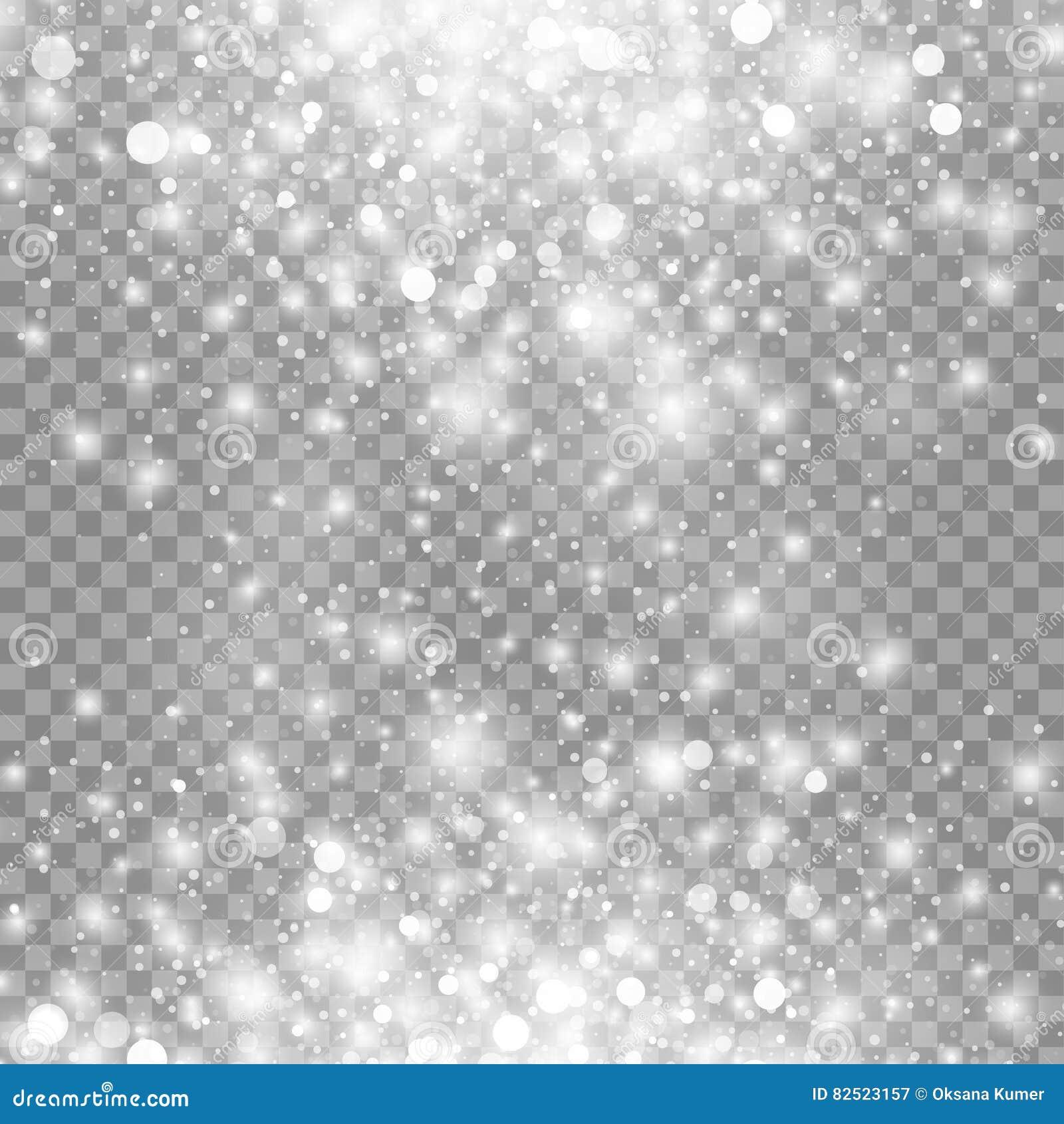 Vector o efeito da luz mágico do fulgor branco isolado no fundo transparente