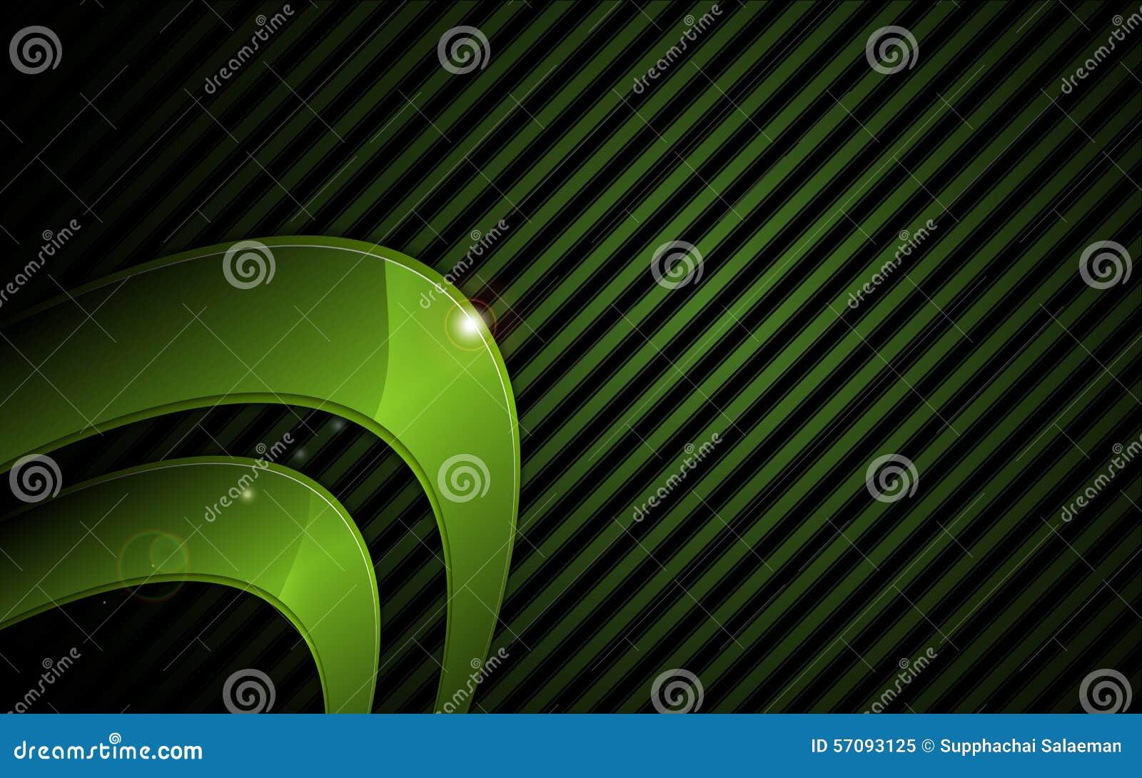 Vector o fundo gráfico metálico verde abstrato do conceito da tecnologia do quadro olá!