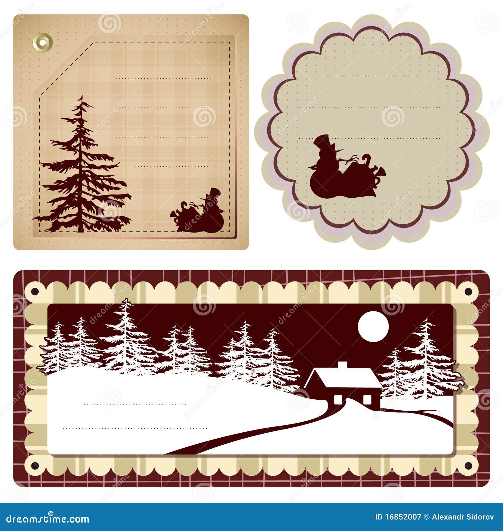 Vector o Natal do fundo do estilo do vintage