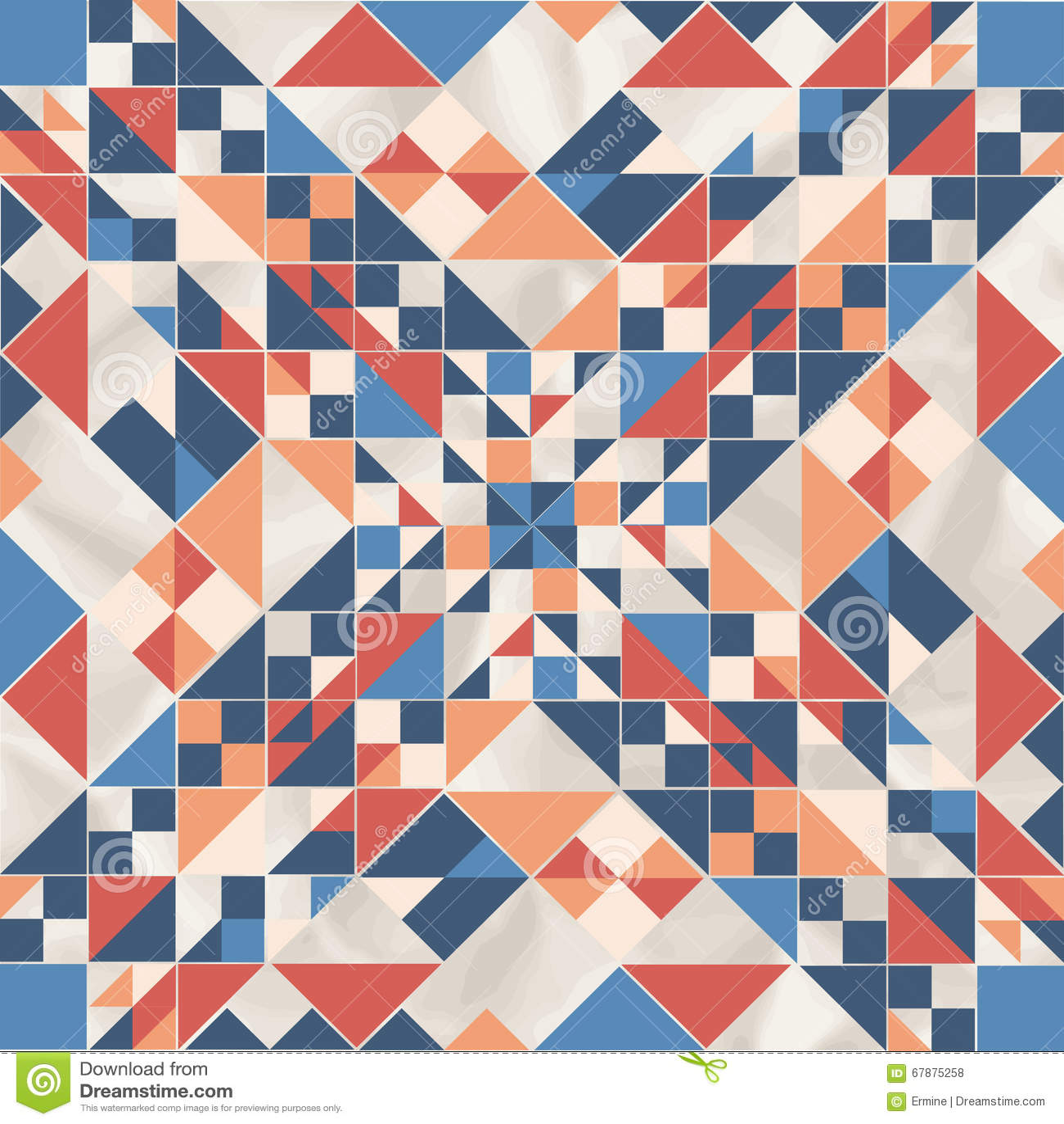 Vector o teste padrão geométrico com formas geométricas, rombo