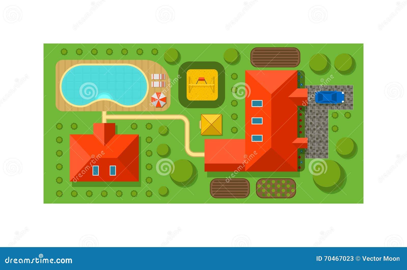 Vector  Objects For House  Plan  Landscape Design Elements