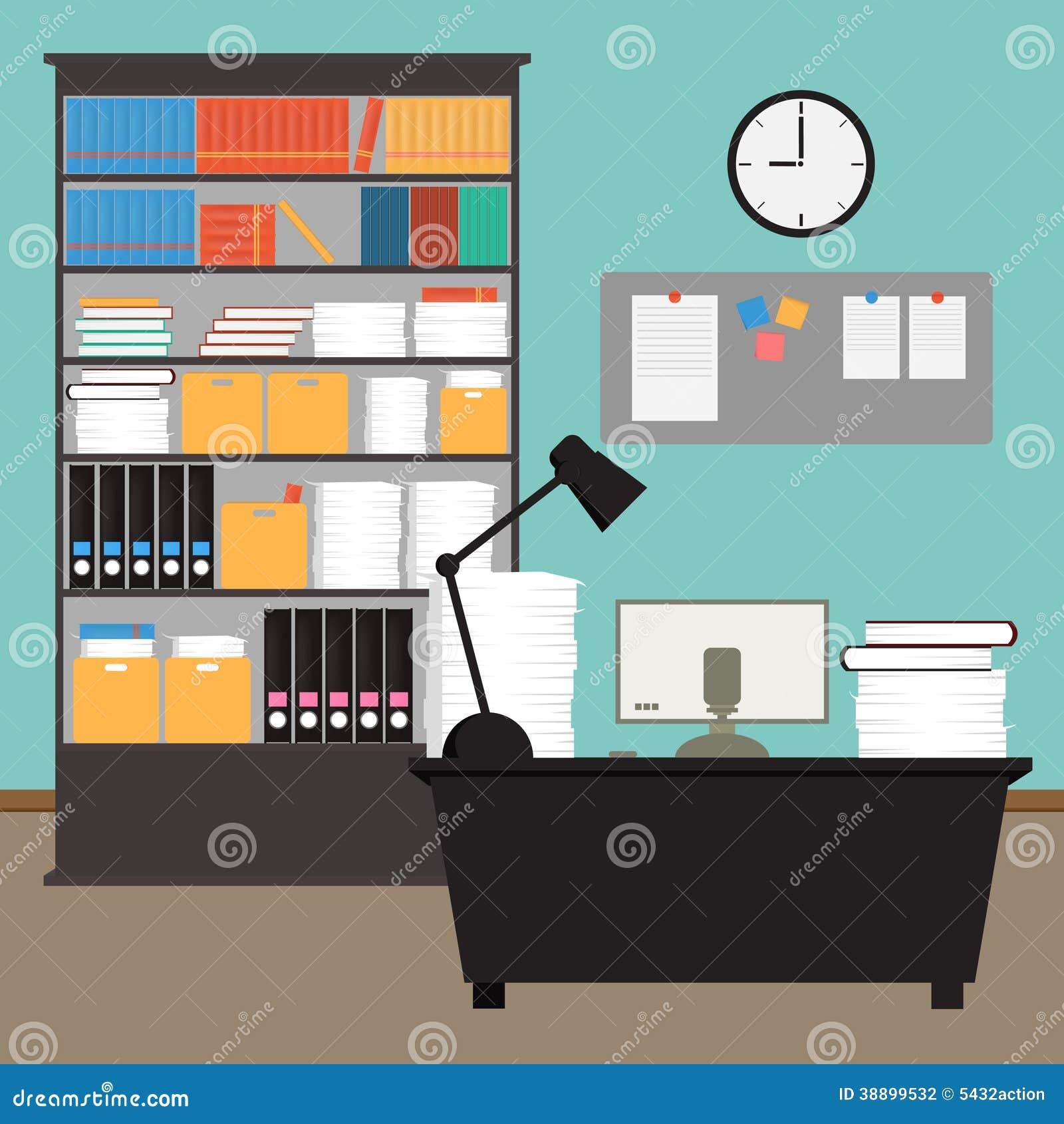 Vector Office Room In EPS 10 Stock Vector Image 38899532