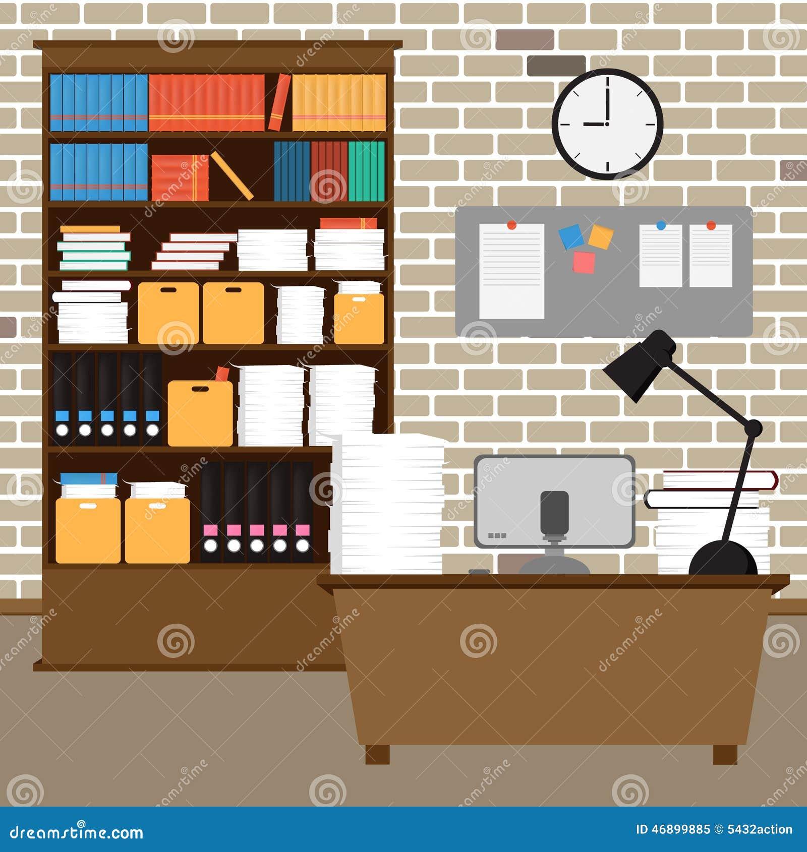 Vector Office Room Workspace Stock Vector Image 46899885