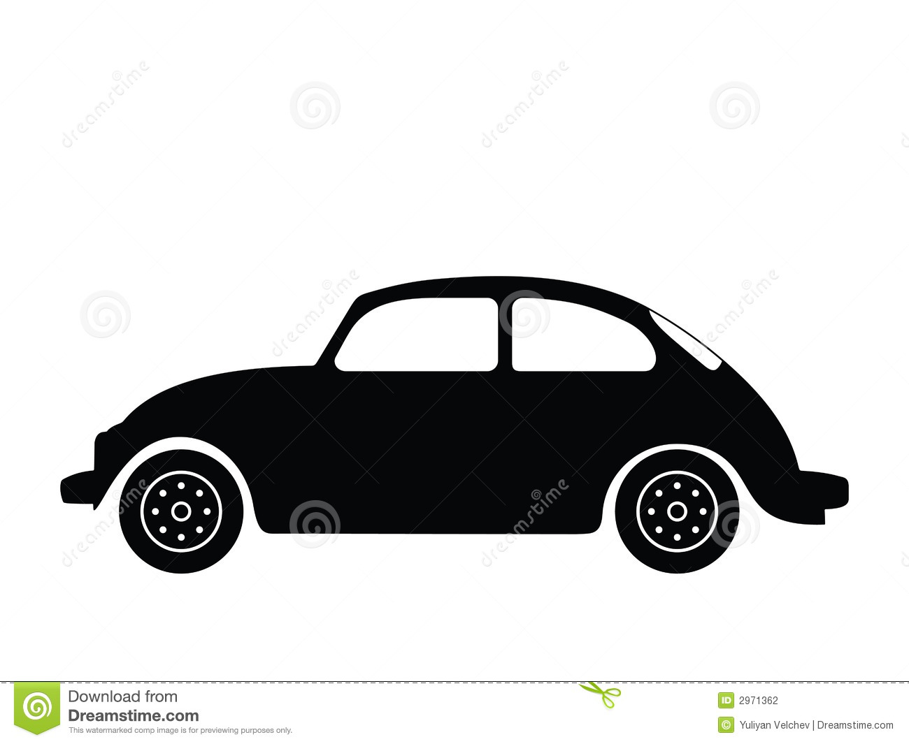 Old car silhouette vector 14