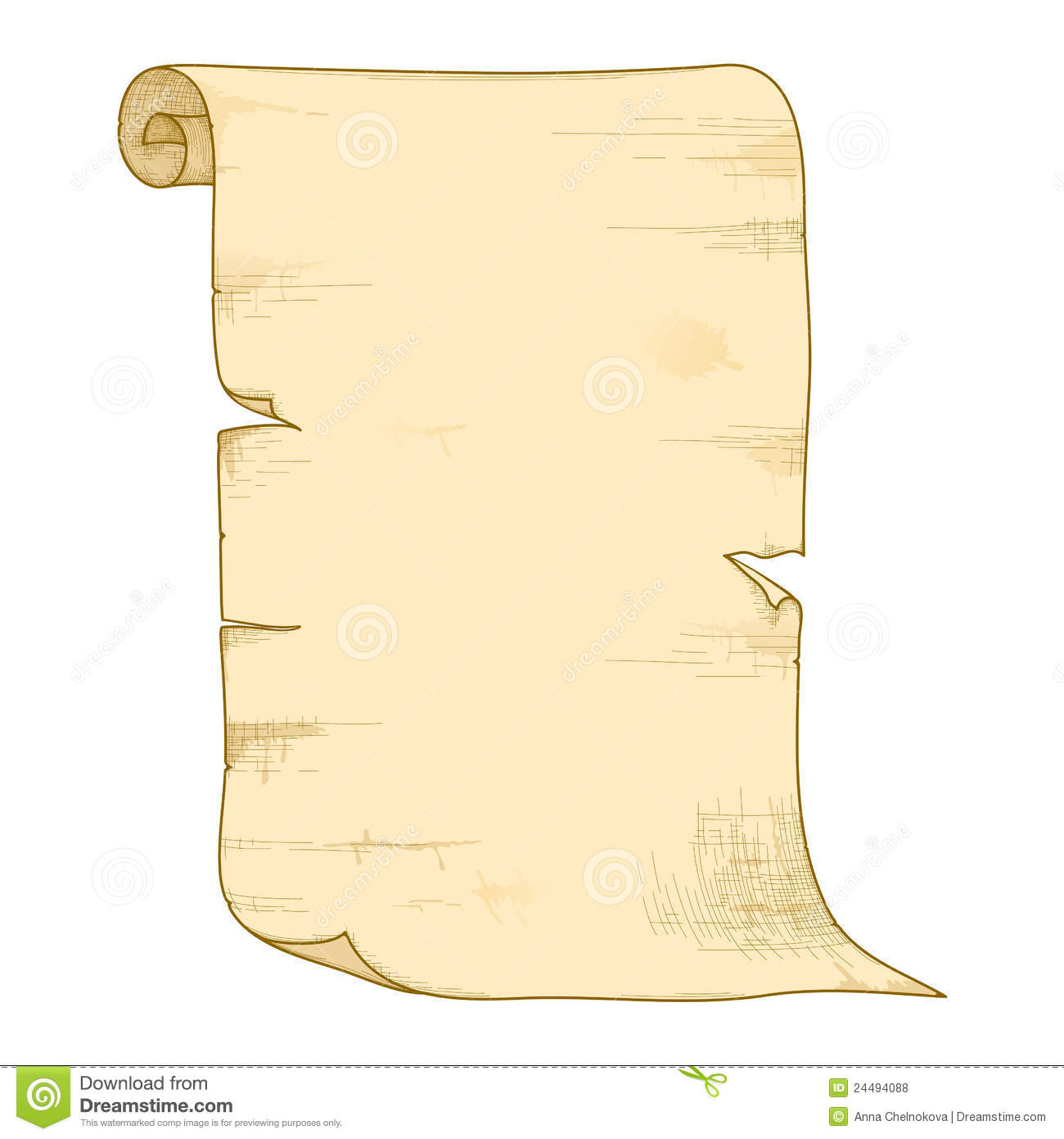 Vector Old Paper Roll. Royalty Free Stock Photos - Image ...  Old