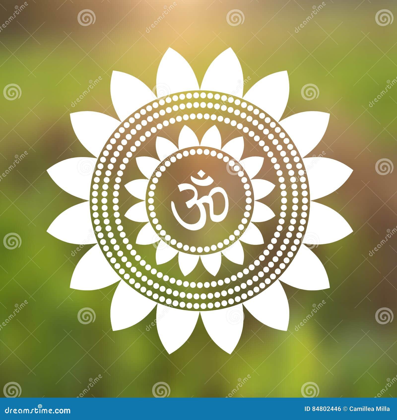 Vector om symbol hindu in lotus flower mandala illustration stock royalty free vector download vector om symbol hindu in lotus flower dhlflorist Gallery