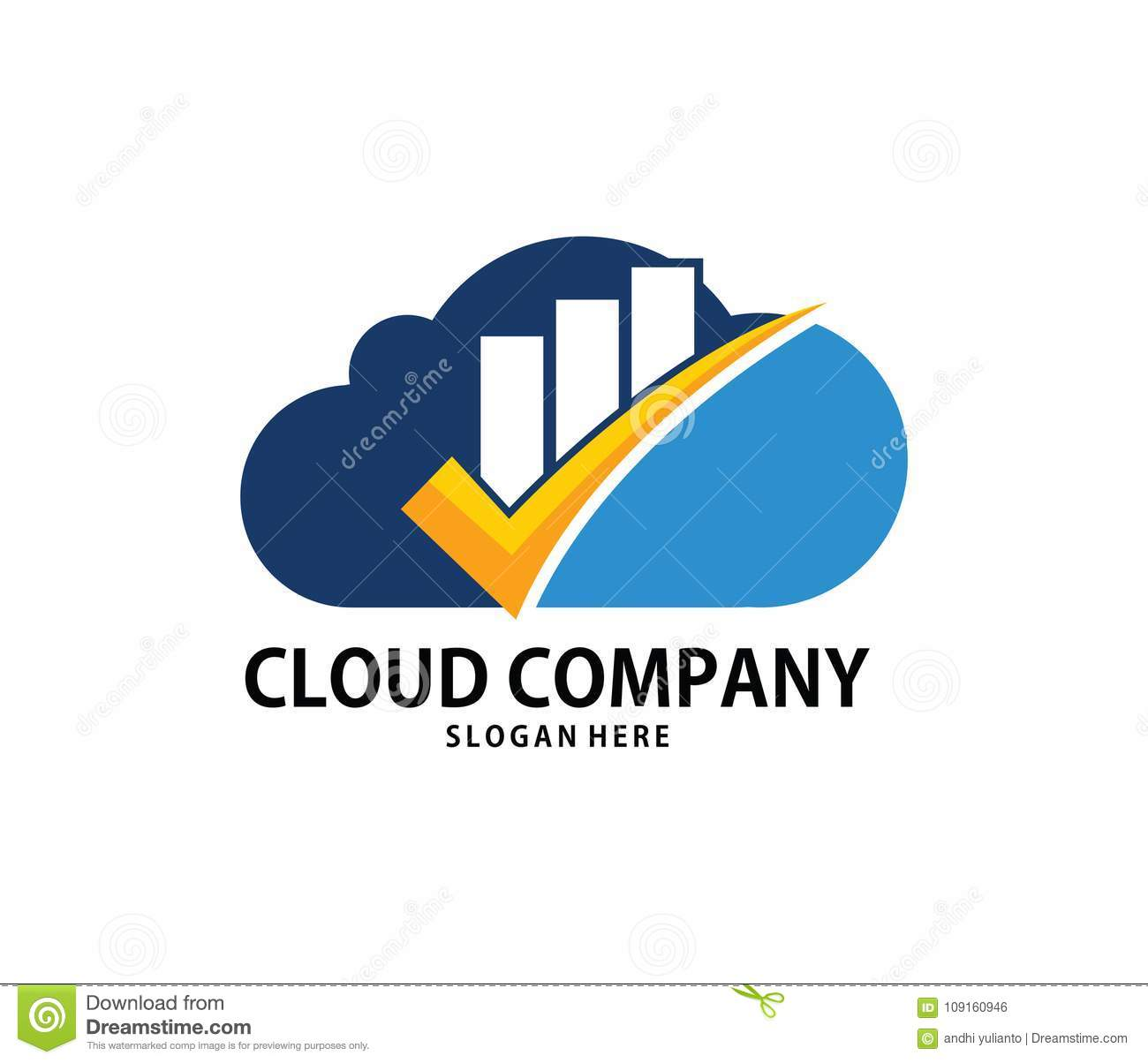 Incroyable Vector Finance Goal Check Mark Cloud Online Cloud Storage Logo Design