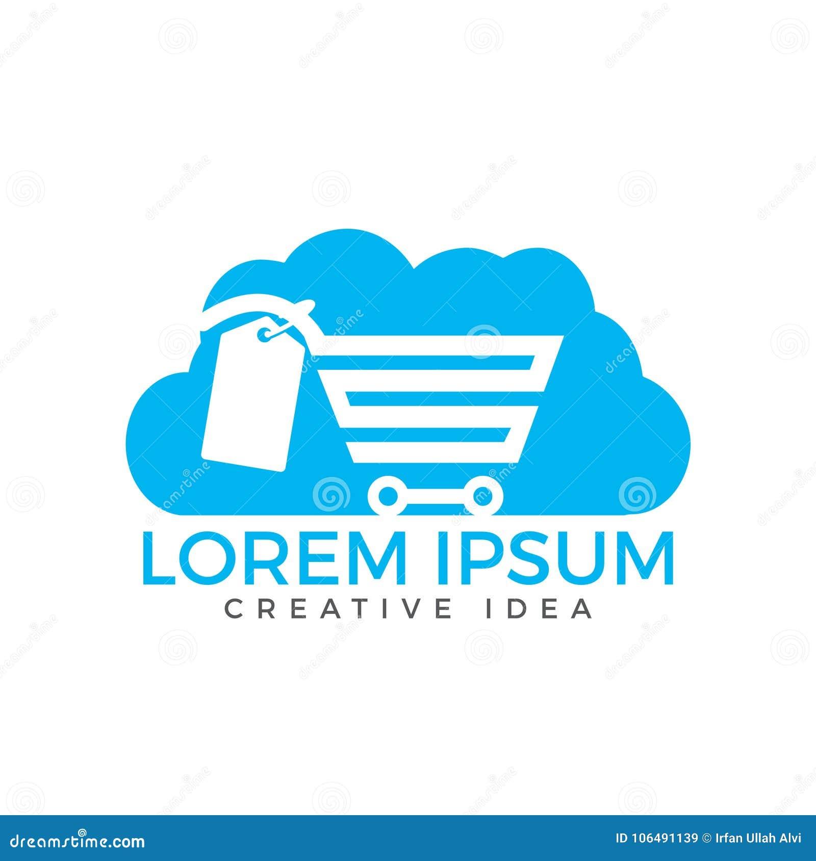 Cloud Shoping Logo Design Stock Vector Illustration Of Digital