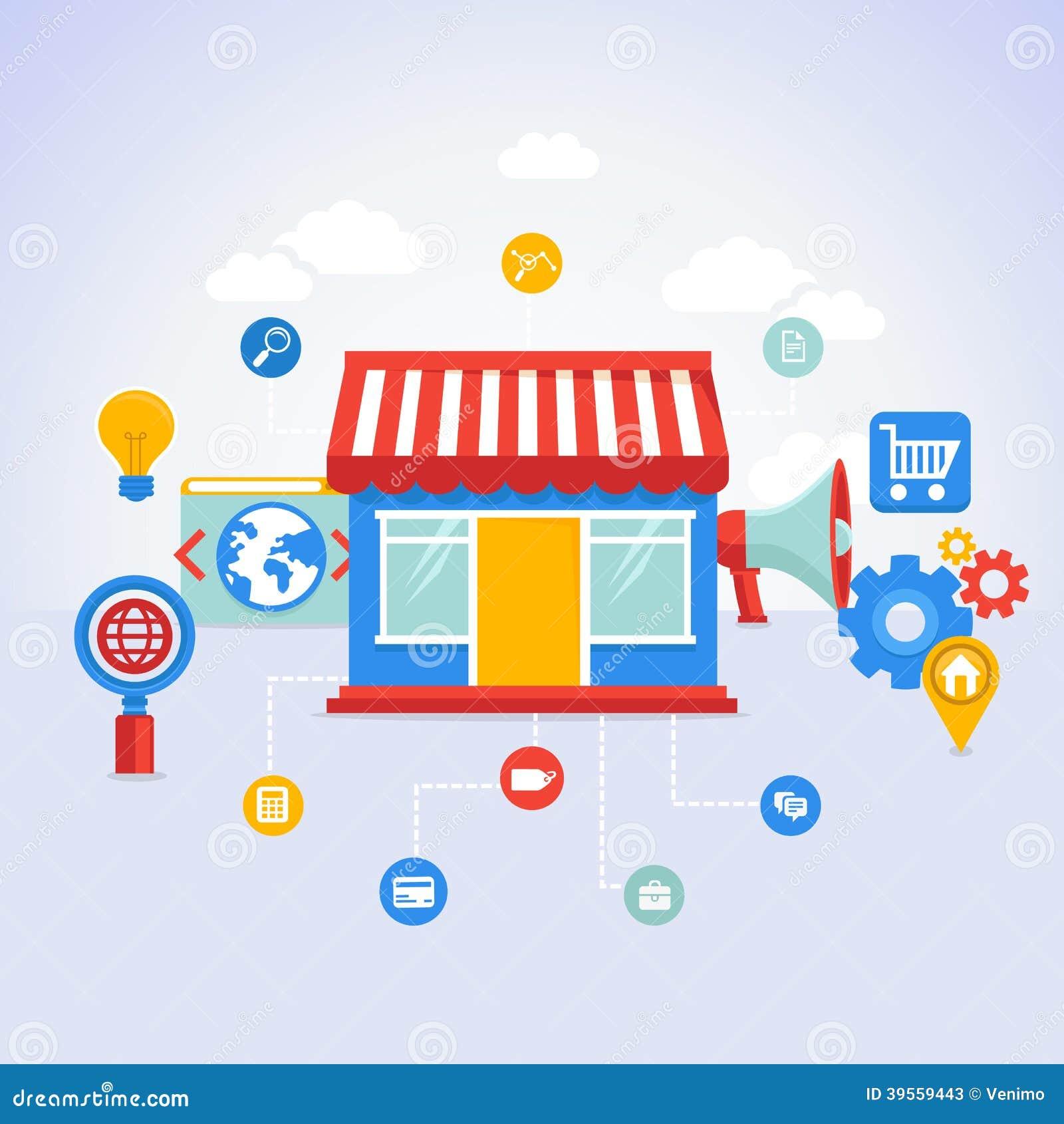 Online marketing shop