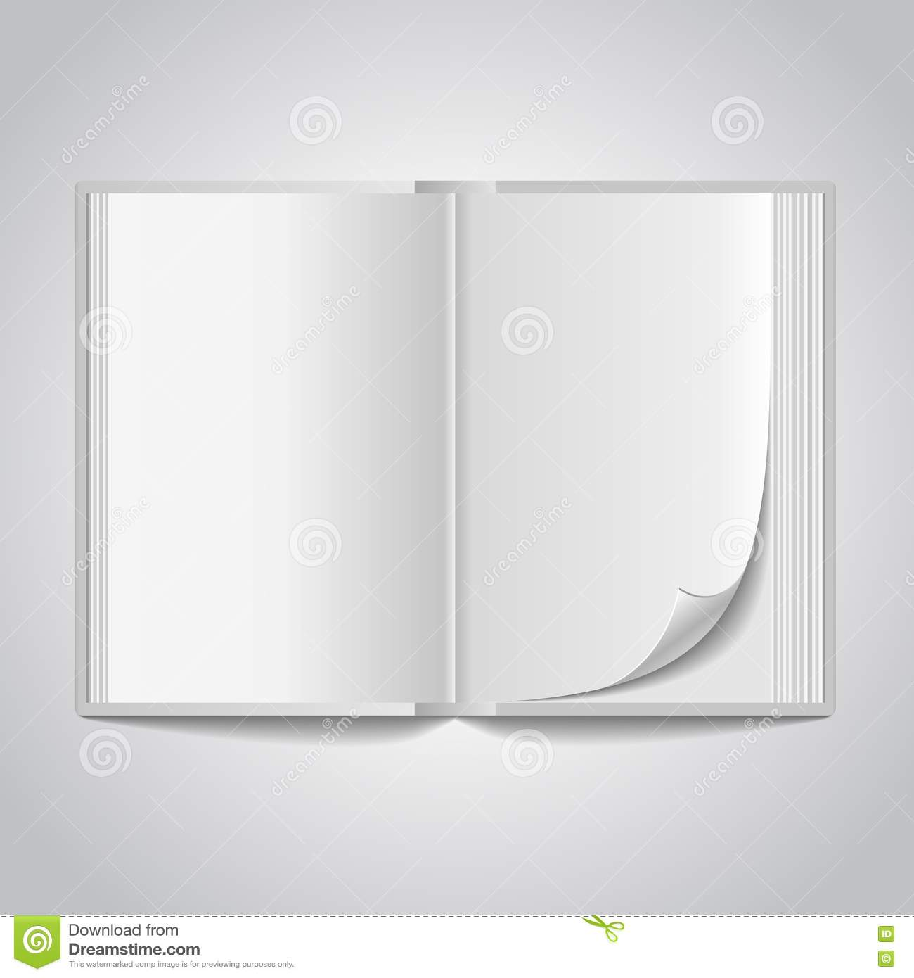 Vector Open Blank Book Royalty Free Stock Images - Image: 35195649