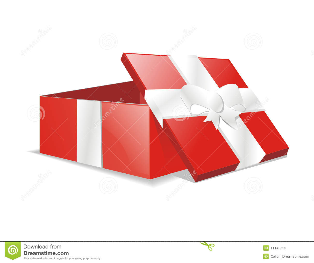 Vector Open Gift Present Box Download Preview