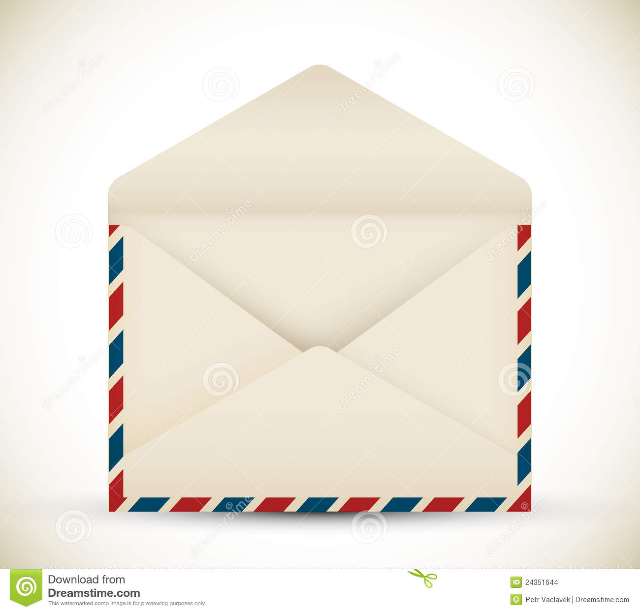 Vector Open Vintage Envelope Stock Images Image 24351644