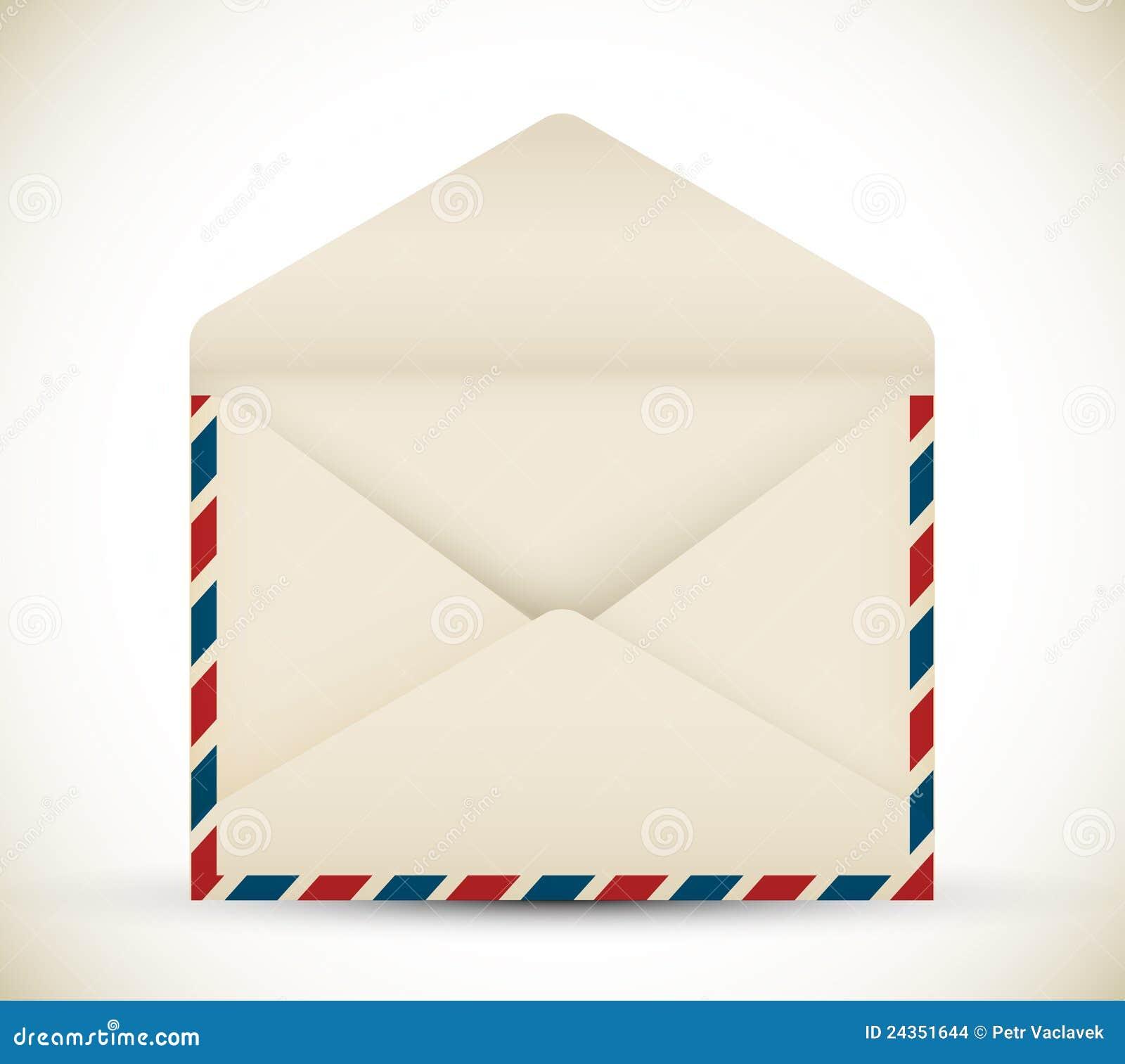 Vector open vintage envelope stock images image 24351644