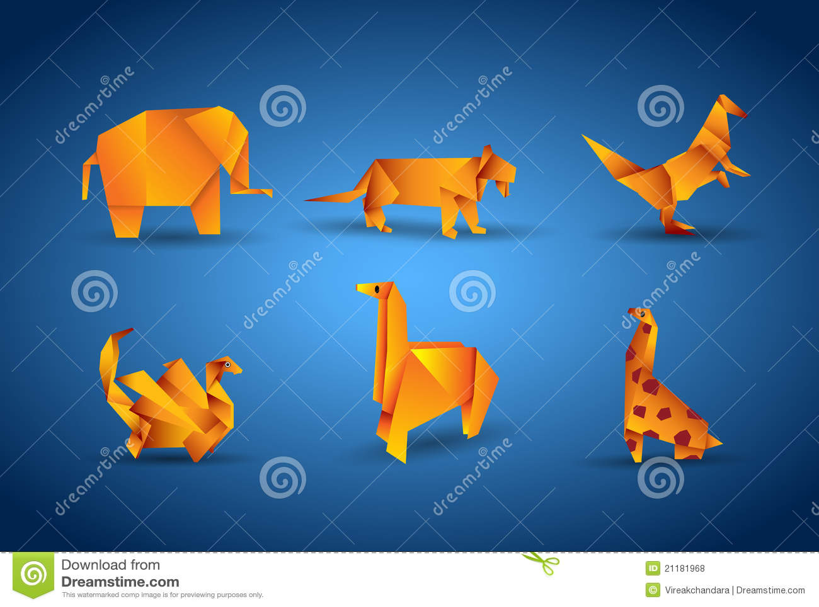 Vector origami animal