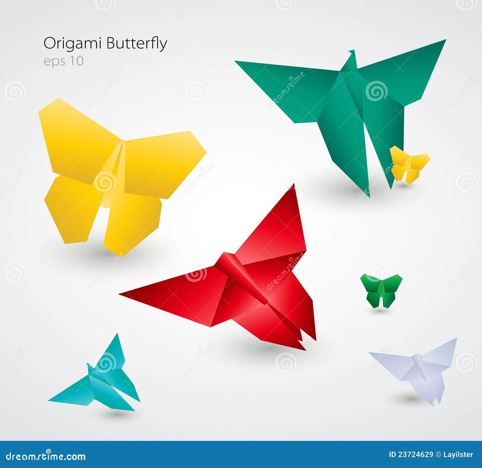 Vector Origami Butterflies. EPS10 Stock Vector ... - photo#41