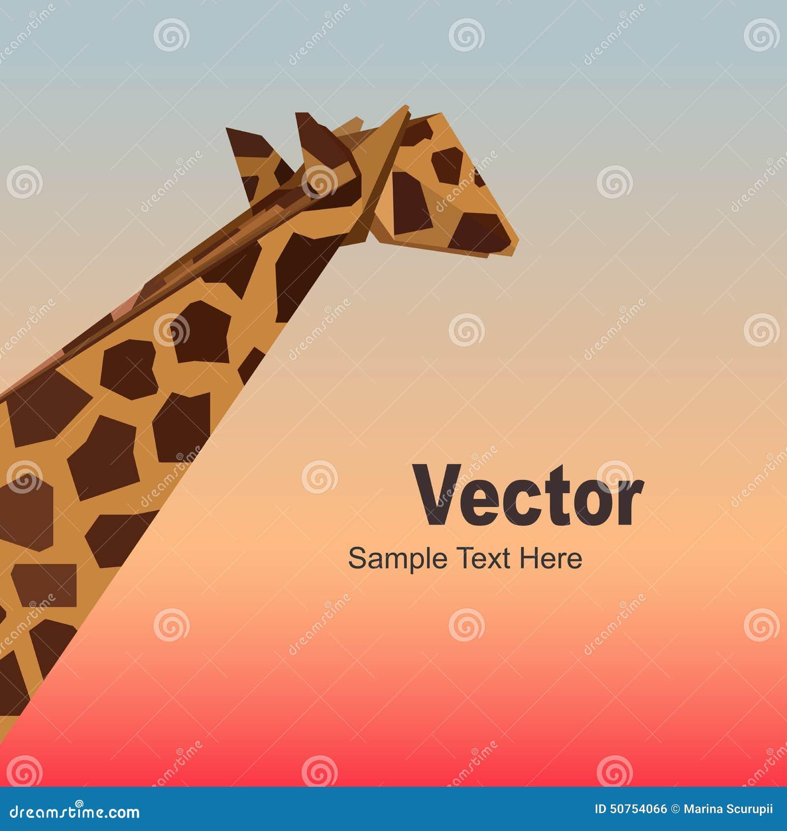 Vector Origami Giraffe Stock Illustration - Image: 50754066 - photo#11