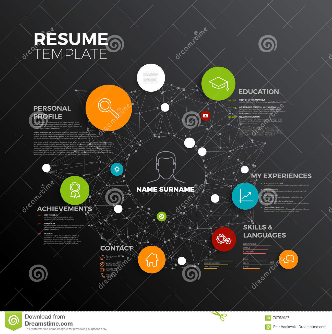 vector original minimalist cv    resume template stock vector