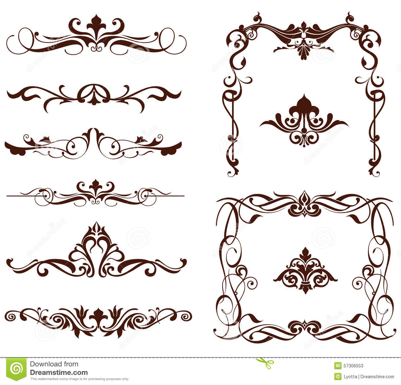 Vector ornamental borders stock vector image of clipart 57306553 vector ornamental borders magicingreecefo Gallery