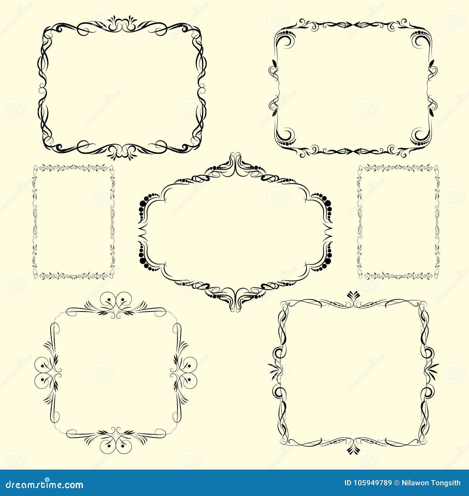 Vector Ornamental design borders and corners.