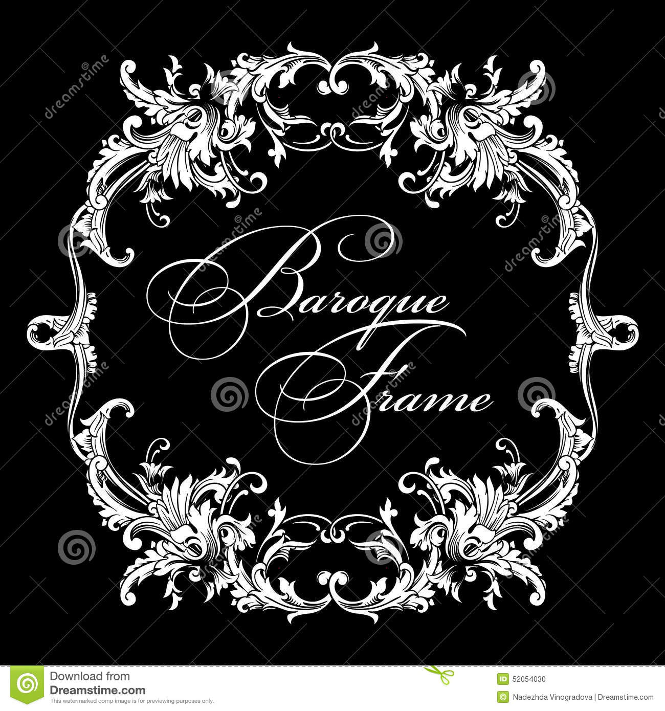 Vector ornamental frame baroque pattern stock vector for Baroque design elements