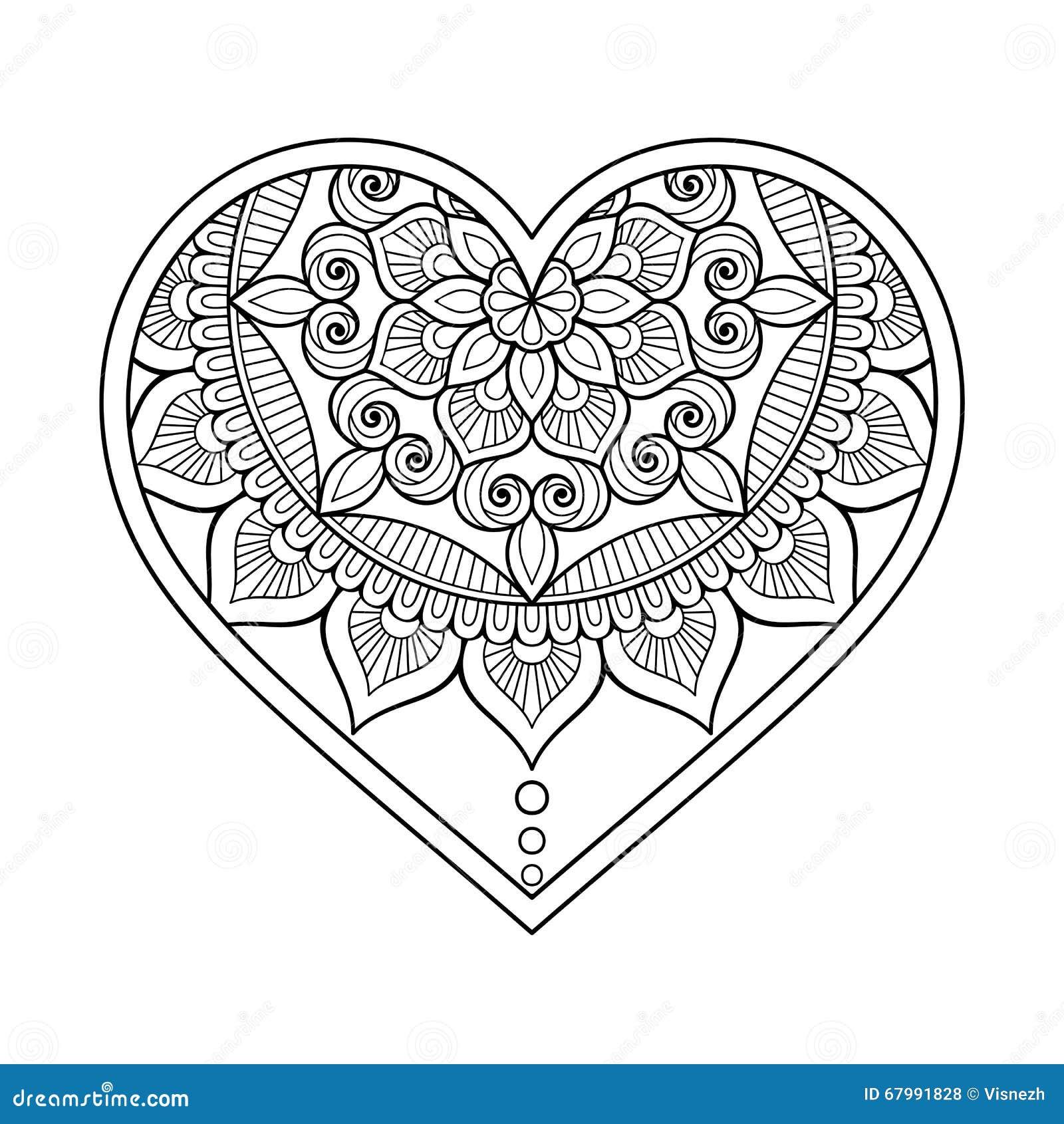 vector ornamental heart stock vector illustration of mandala 67991828