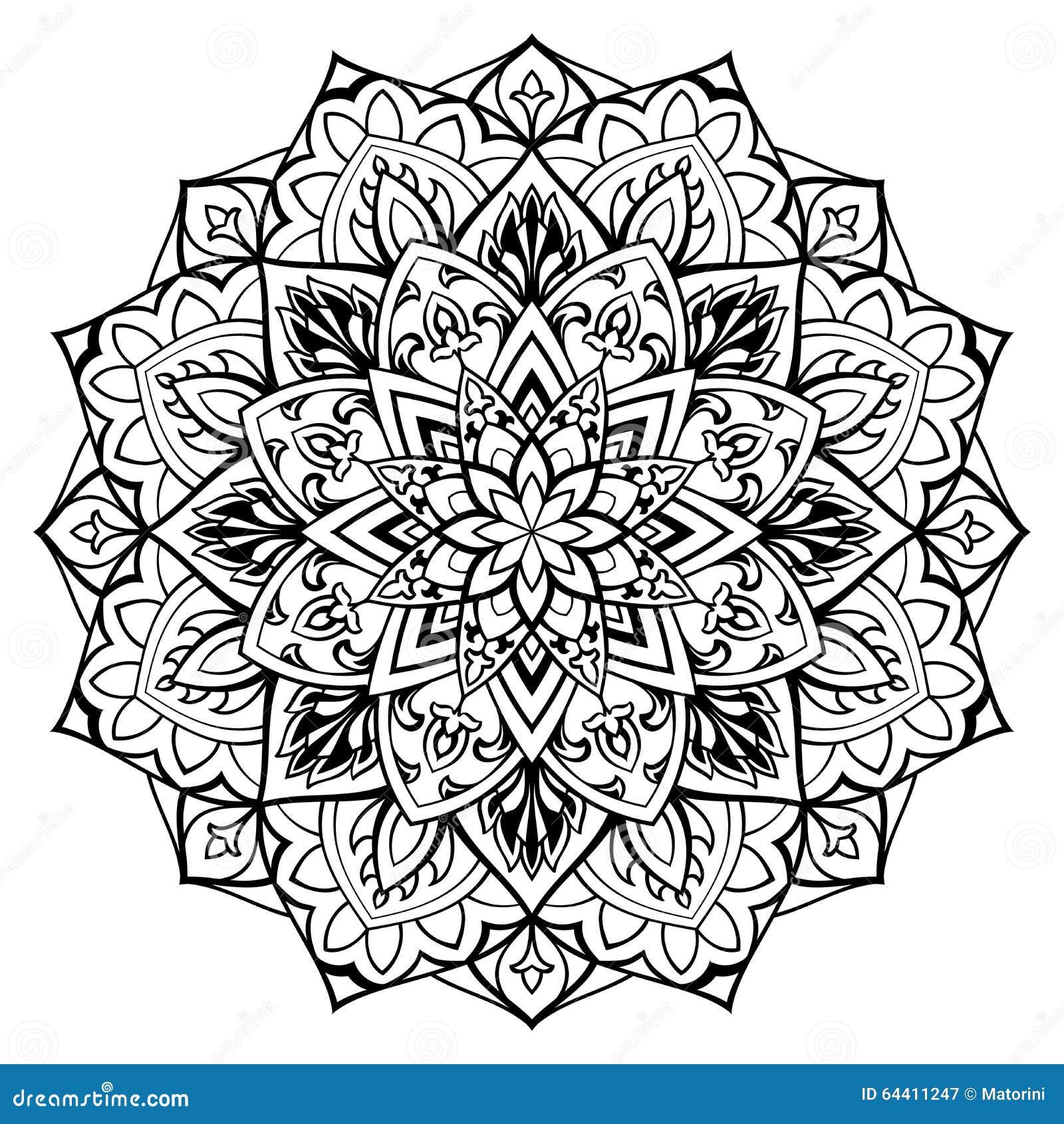 vector ornamental mandala  stock vector  illustration of