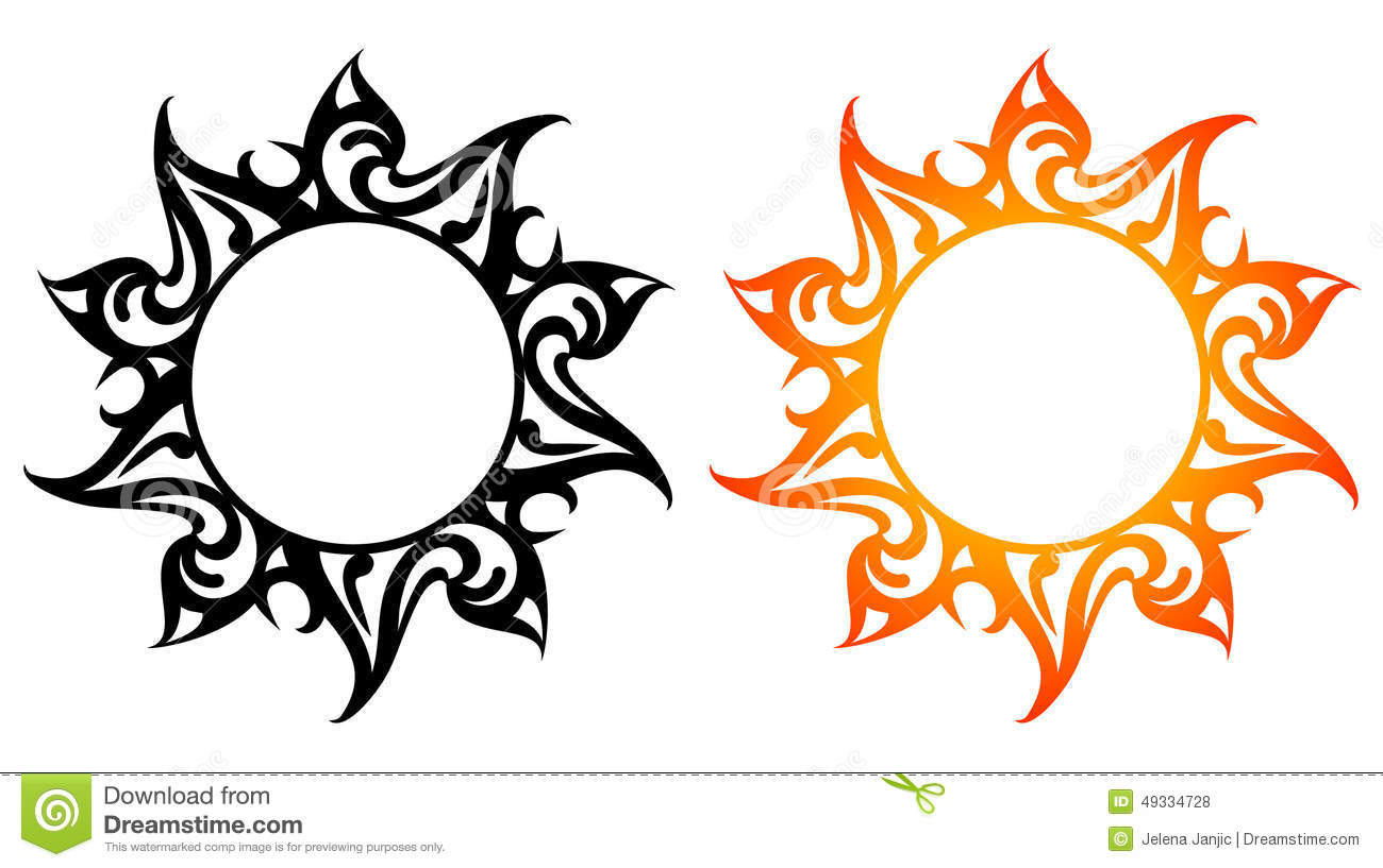 Phoenix Tile Vector Ornaments, Abstract Sun, Fire Stock Vector - Image ...
