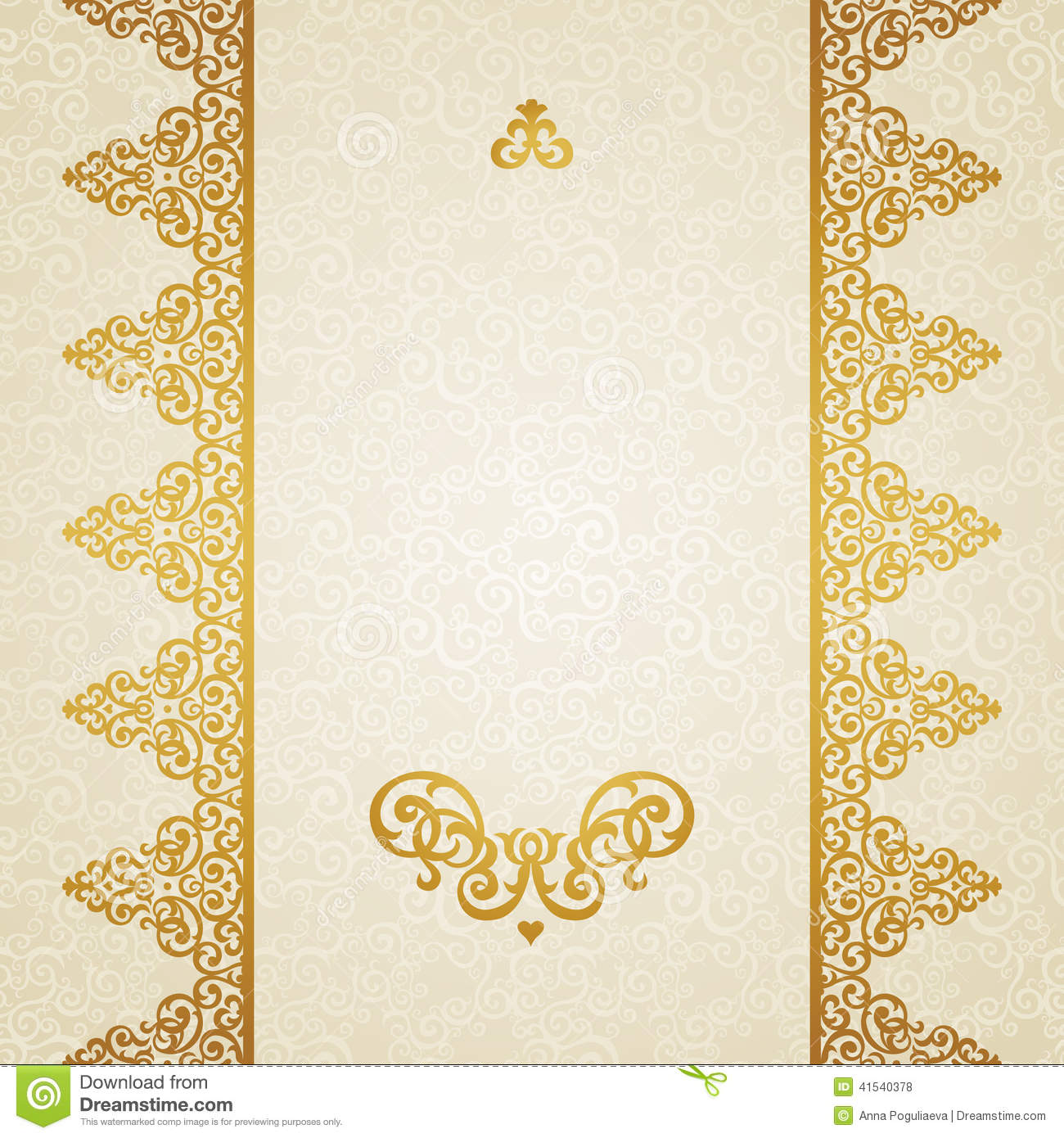 Vector Ornate Border In Victorian Style Stock Vector