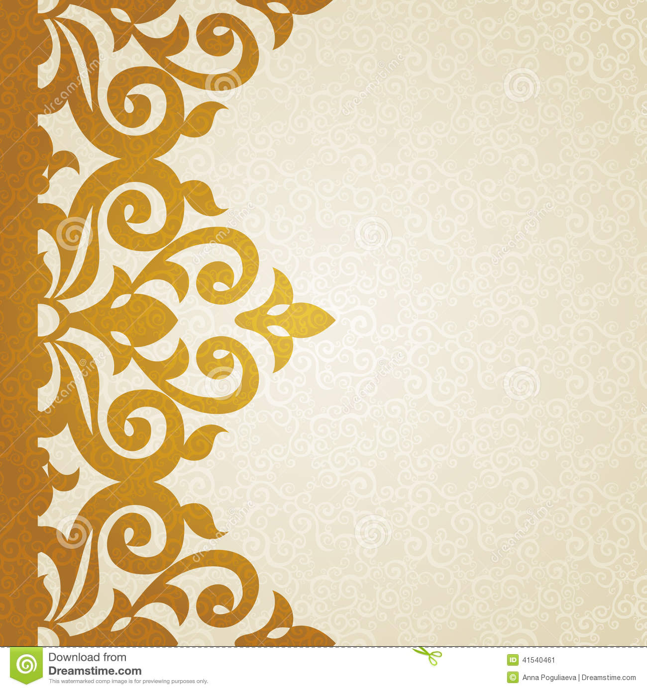 Vector Ornate Border In Victorian Style. Stock Vector ...