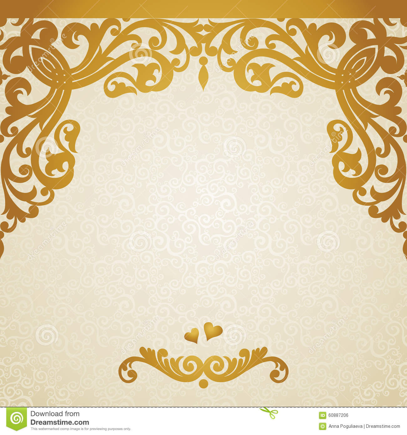 vector ornate border in victorian style cartoon vector