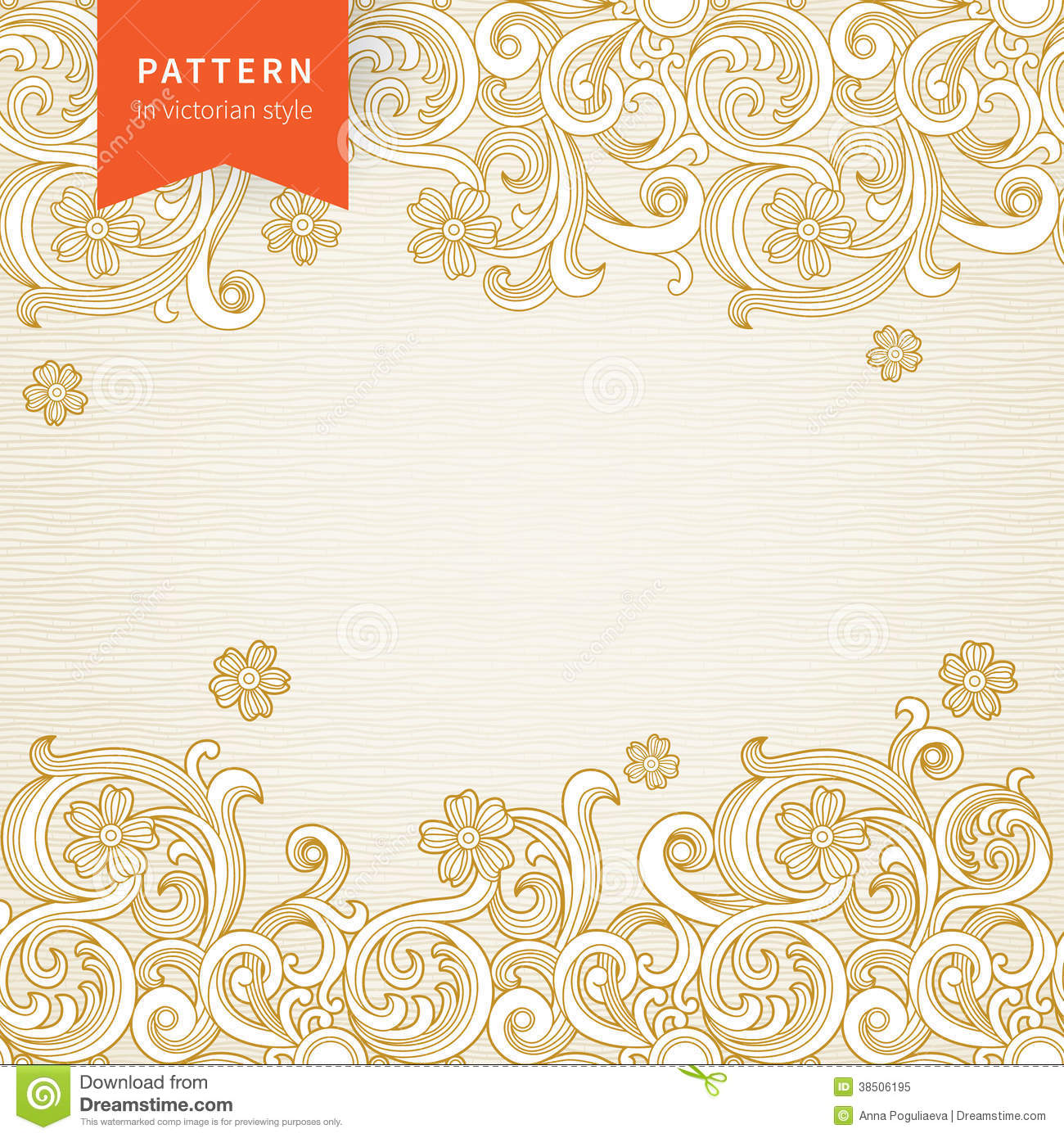 Vector Ornate Floral Pattern In Victorian Style Stock