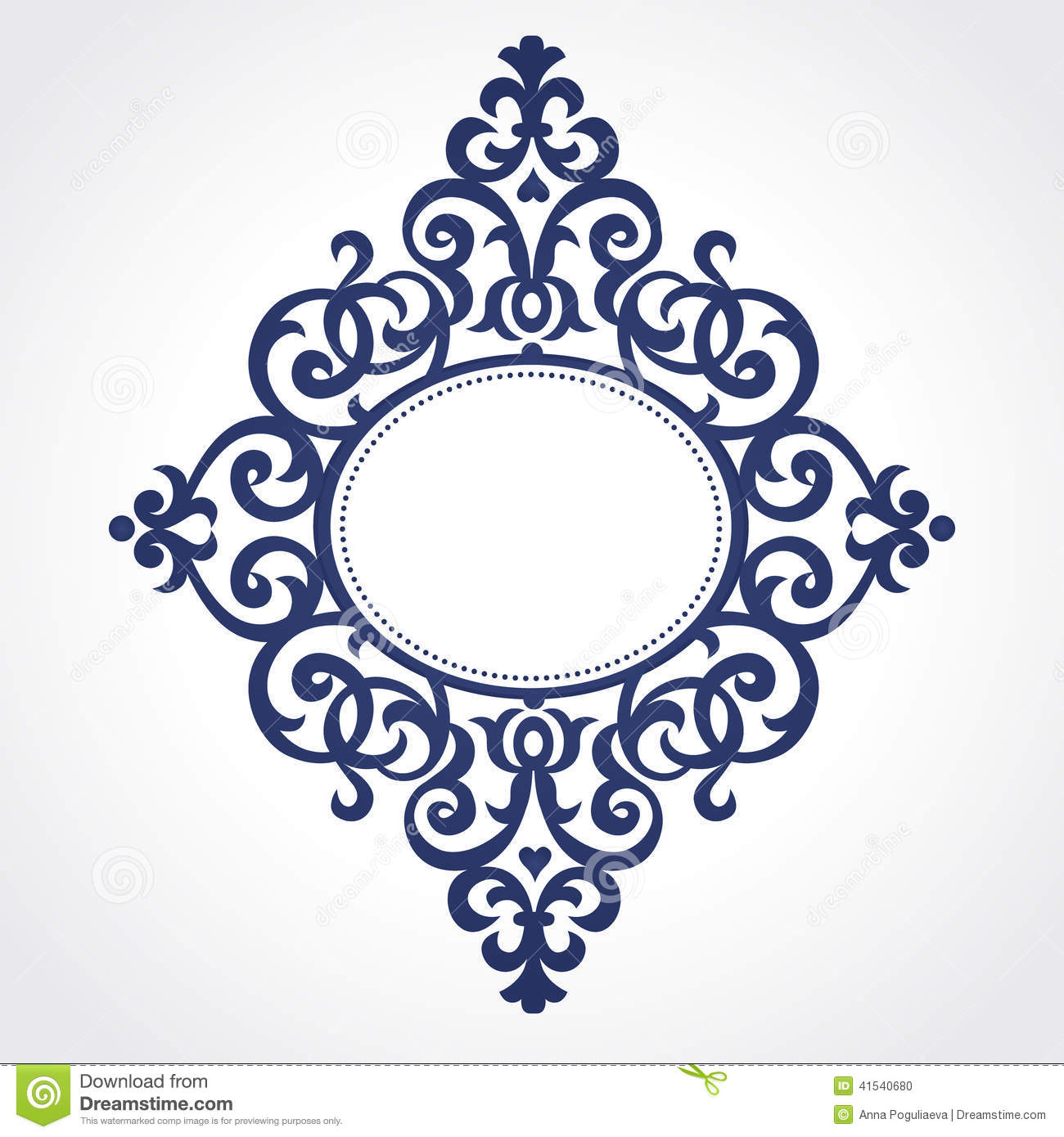 Vector Ornate Frame In Victorian Style. Stock Vector - Image: 41540680