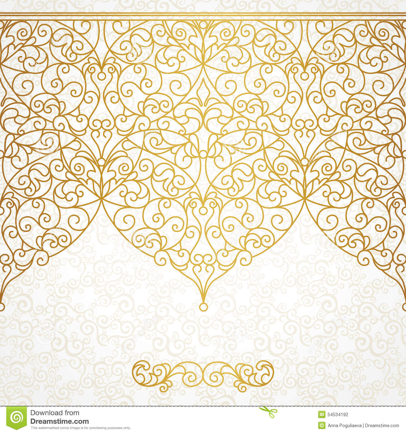 Oriental Style Home Decor Vector Ornate Seamless Border In Eastern Style Cartoon