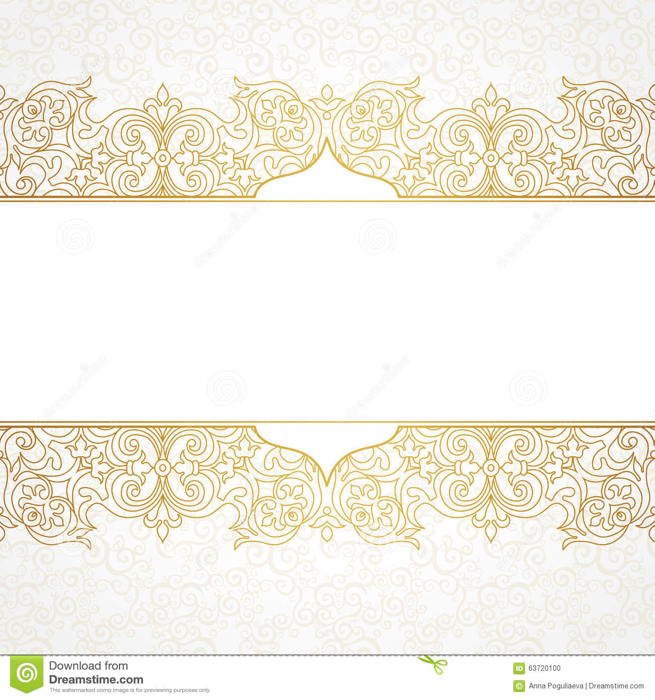 Vector Ornate Seamless Border In Victorian Style. Stock ...