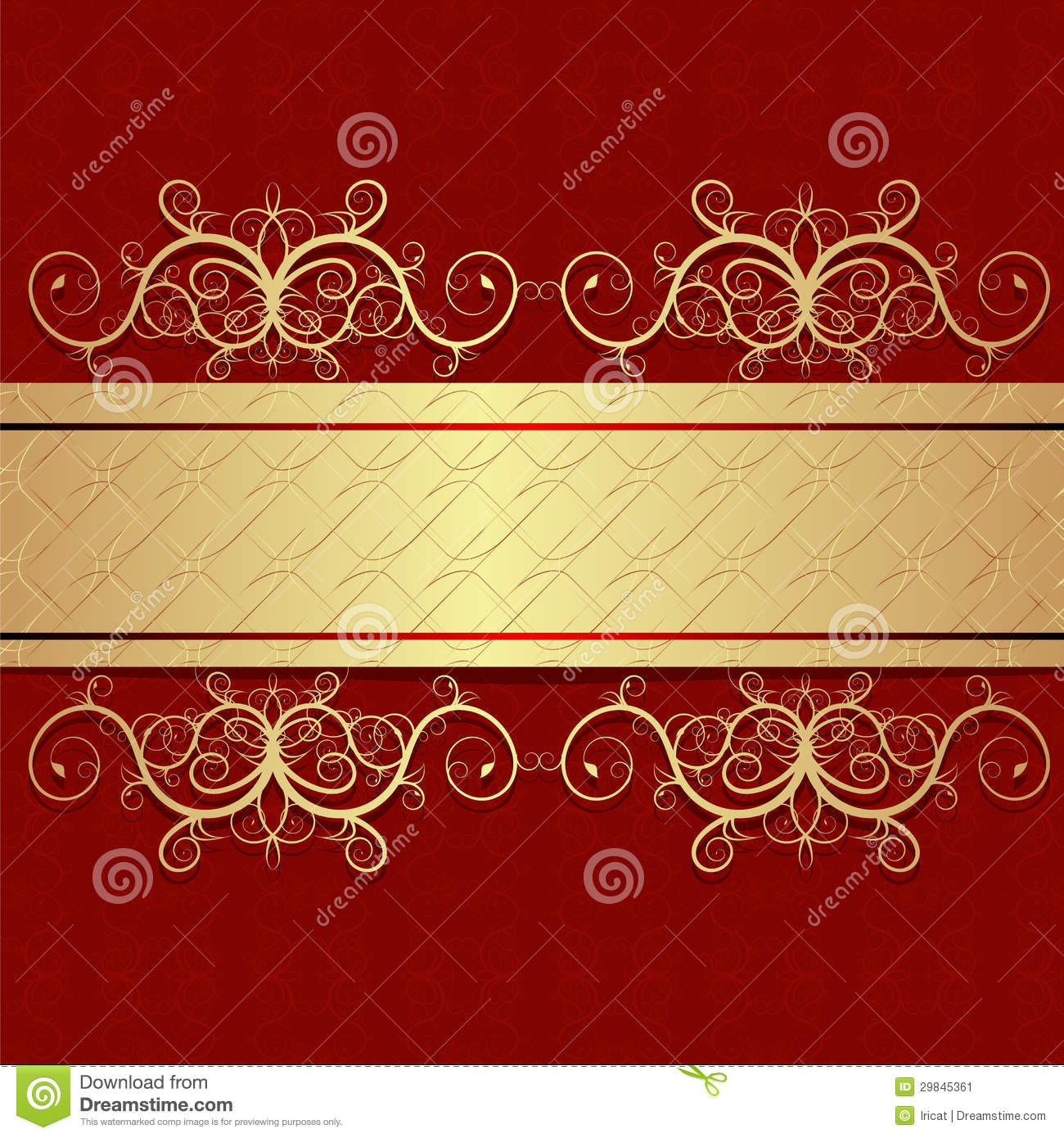 red vintage stock vector illustration of frame beautiful