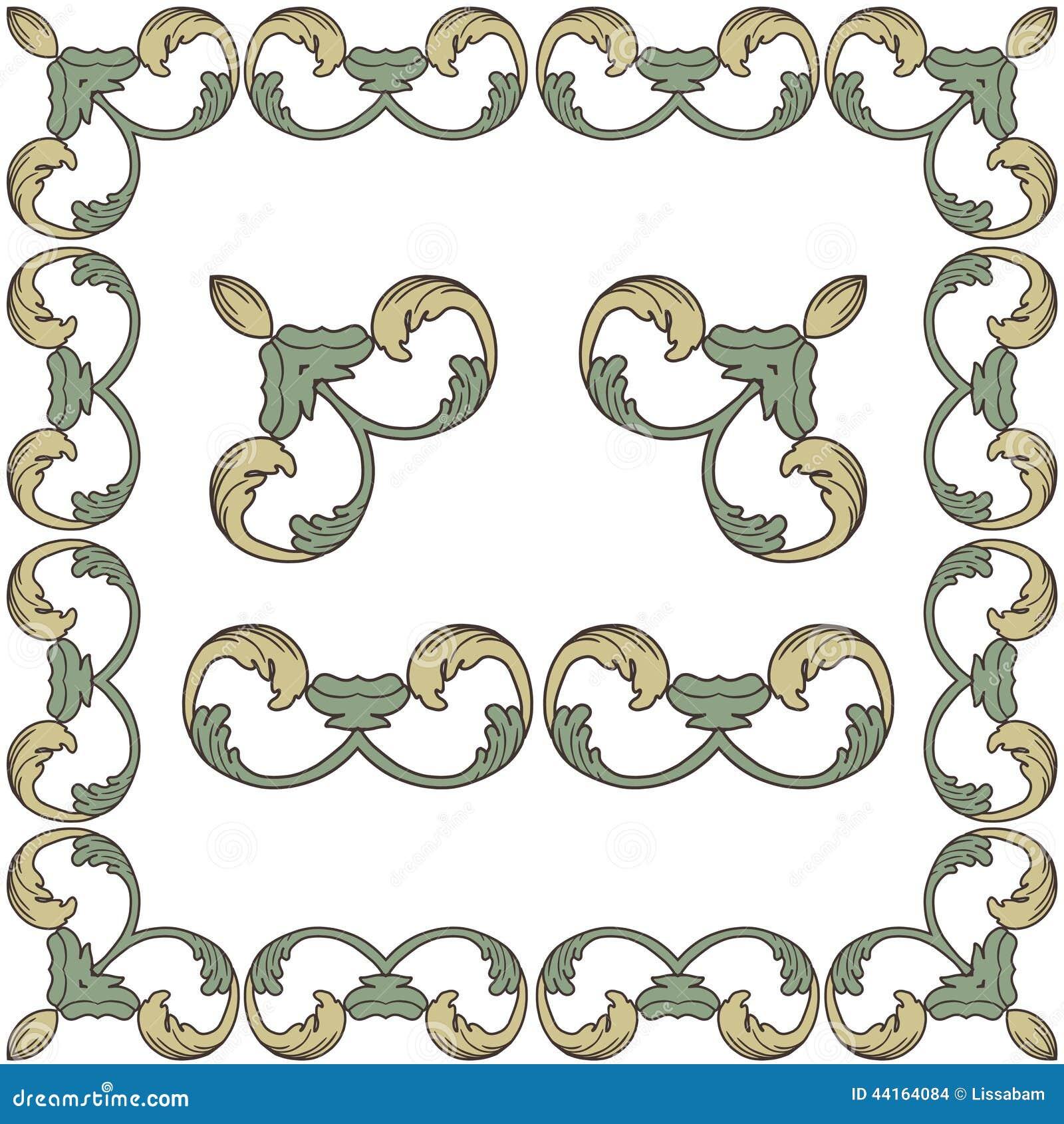 Vector Ornate Vintage Frame Border. Stock Vector - Image ...