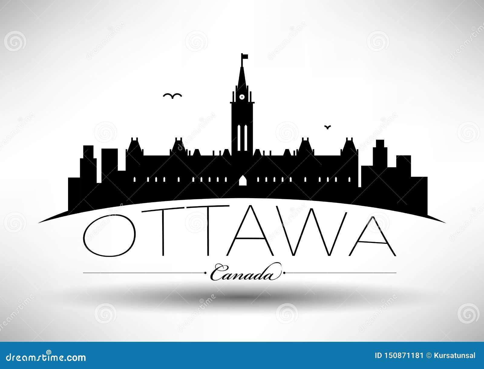 Vector Ottawa City Skyline Design