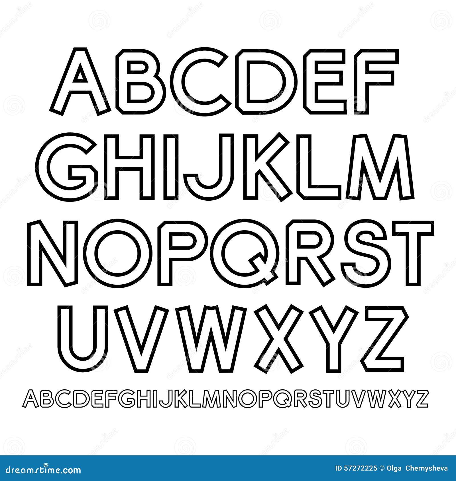 vector outline alphabet stock vector illustration of background 57272225