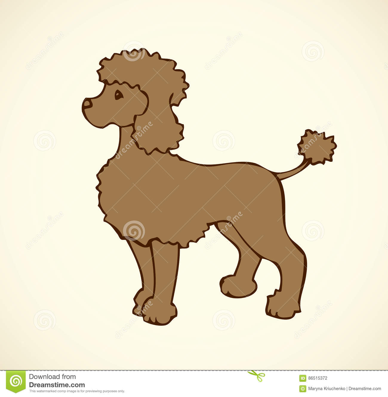 Vector Outline Drawing Purebred Dogs And Mongrels Stock Vector
