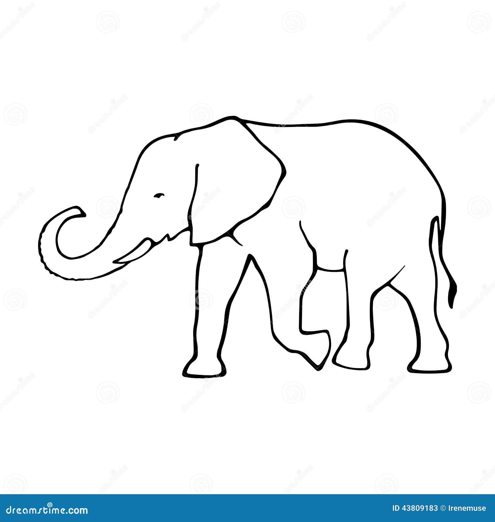 clipart elephant outline - photo #44
