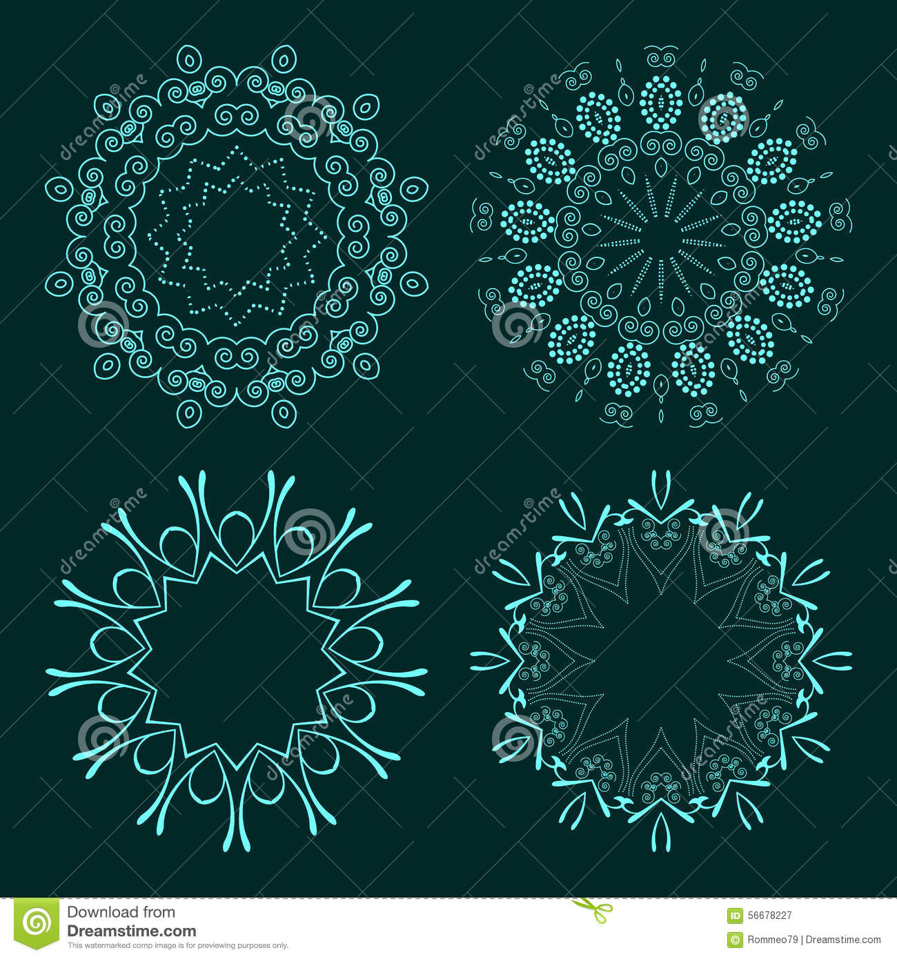 Vector Outline Emblems Badges Abstract Hipster Logo Templates