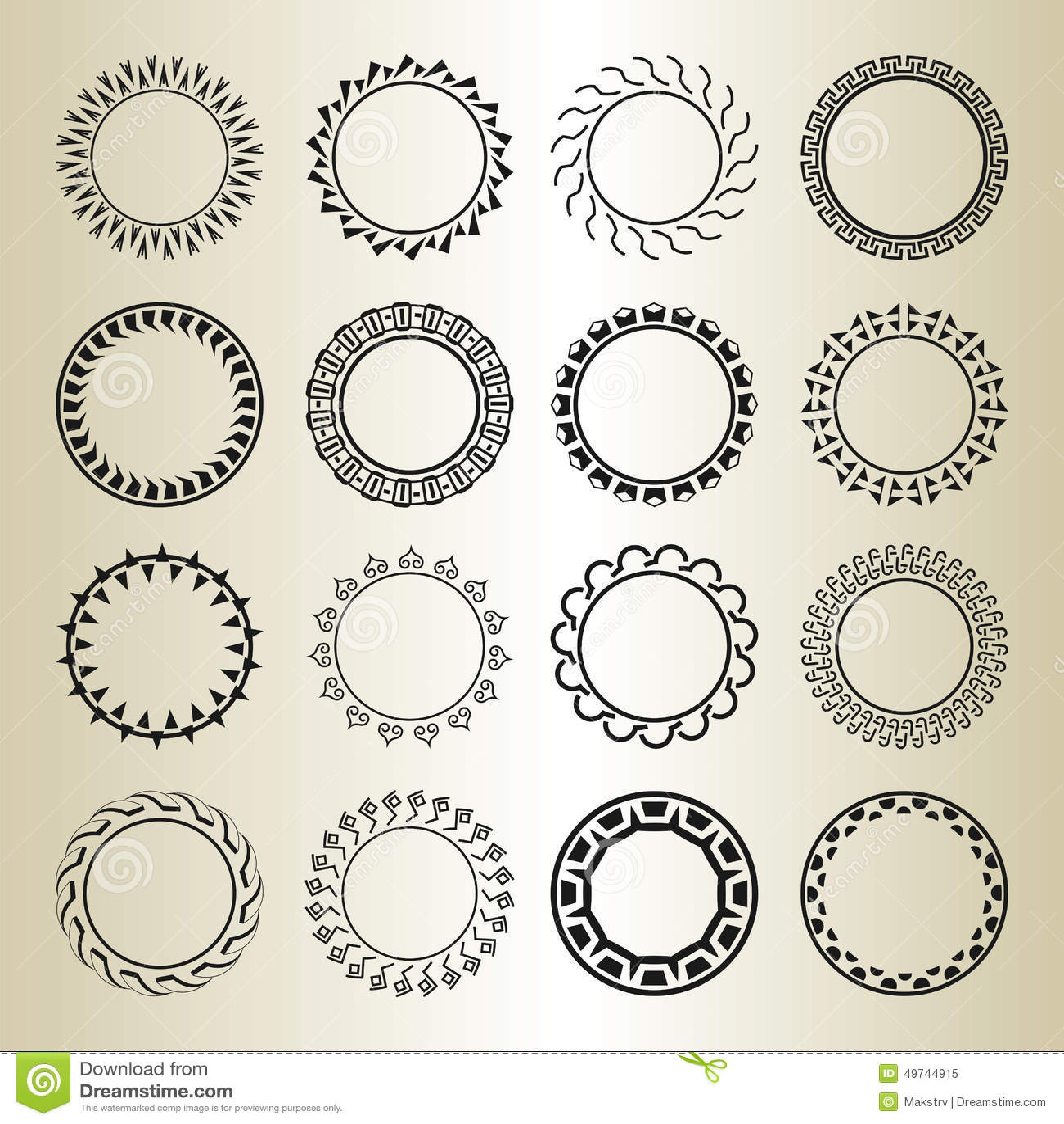 Vector Outline Frames, Logo And Badge Templates. Stock Vector ...