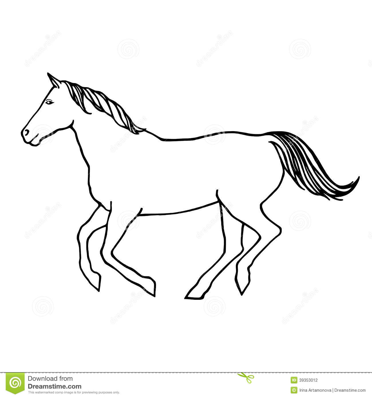 horse outline template