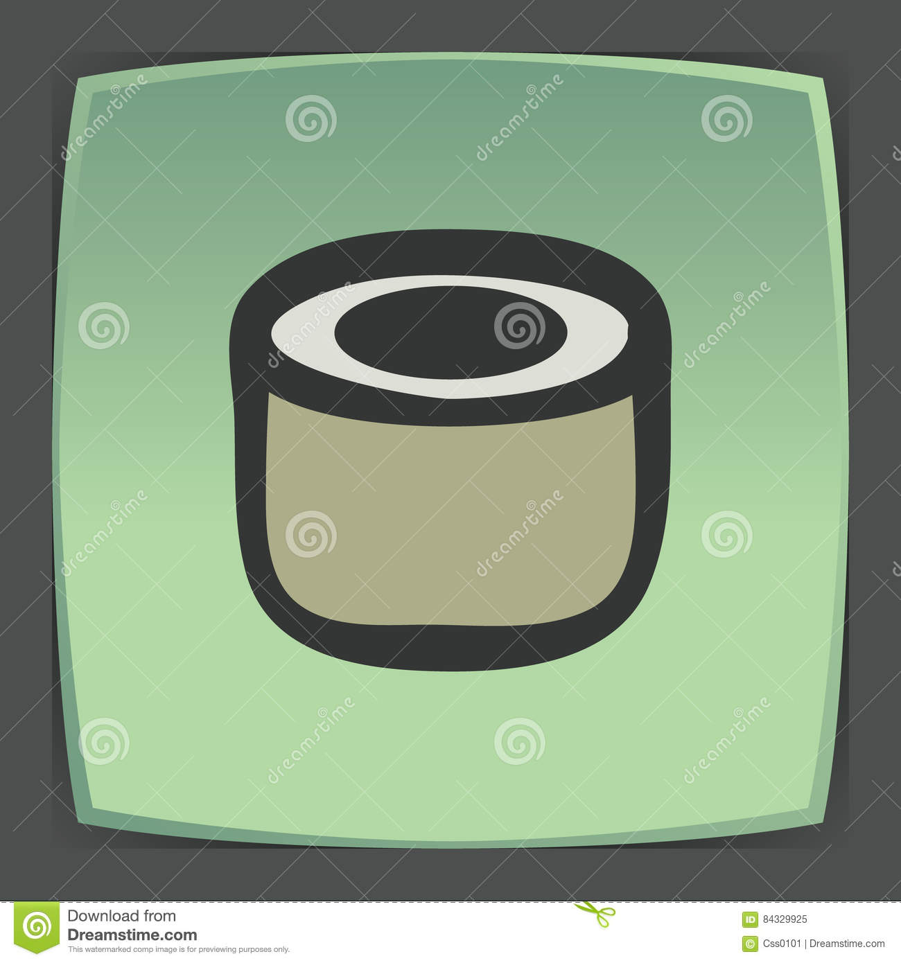 Vector outline sushi roll japan food icon. Modern logo and pictogram.
