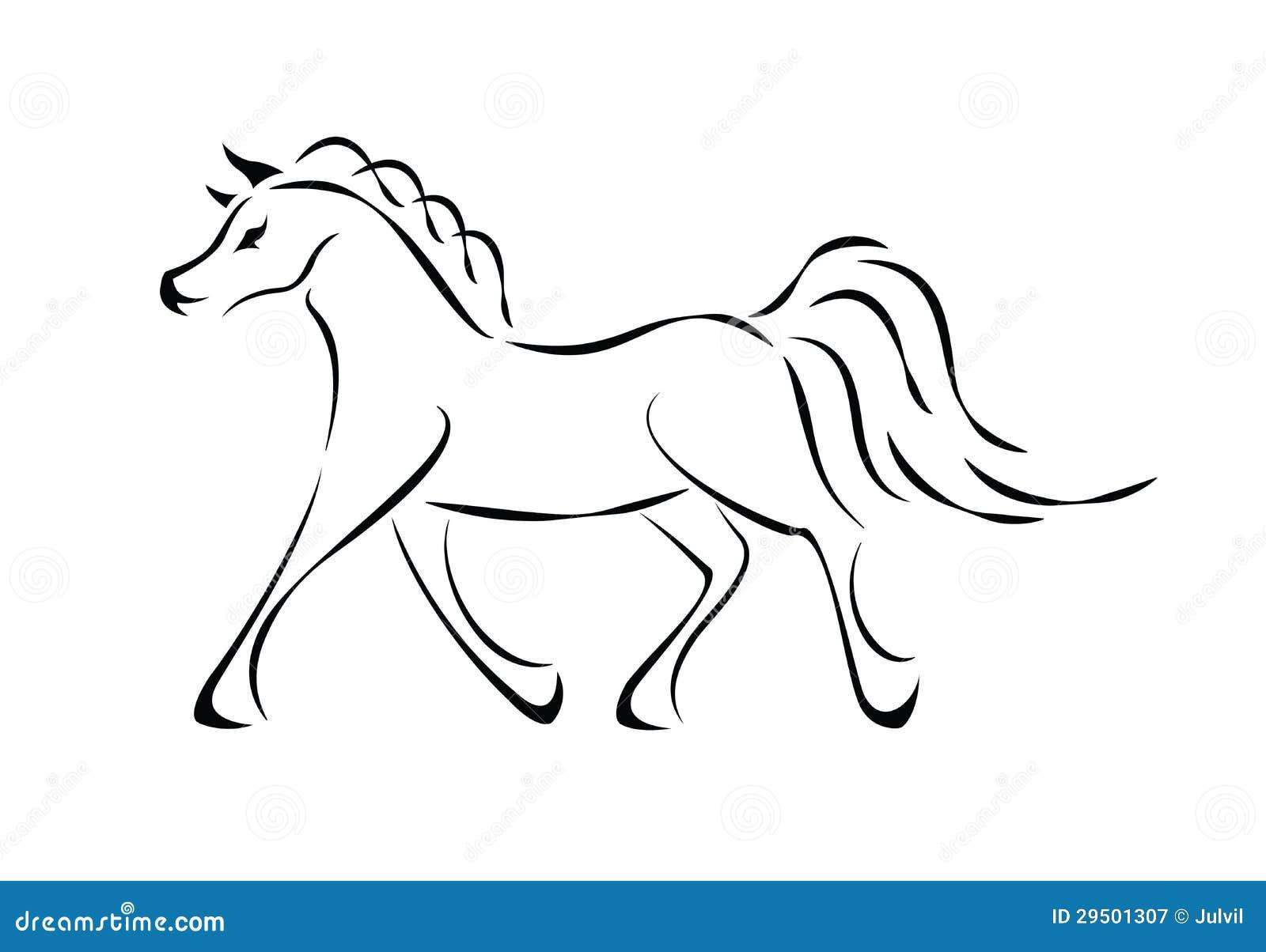 Vector paardteken