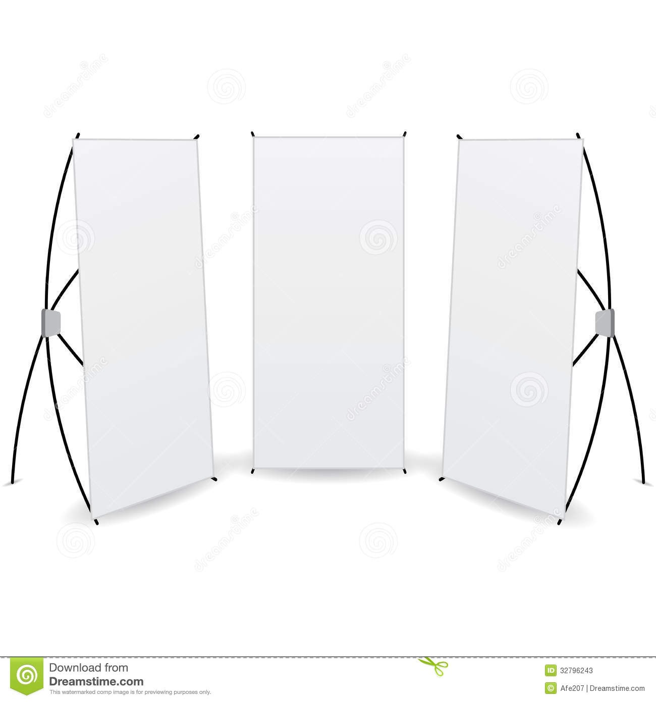 Vector pack banner x stands display stock photos image for Kakemono stand