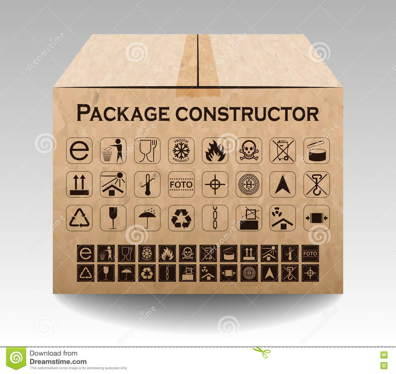 Vector package box on white packaging symbols stock vector packaging symbols buycottarizona
