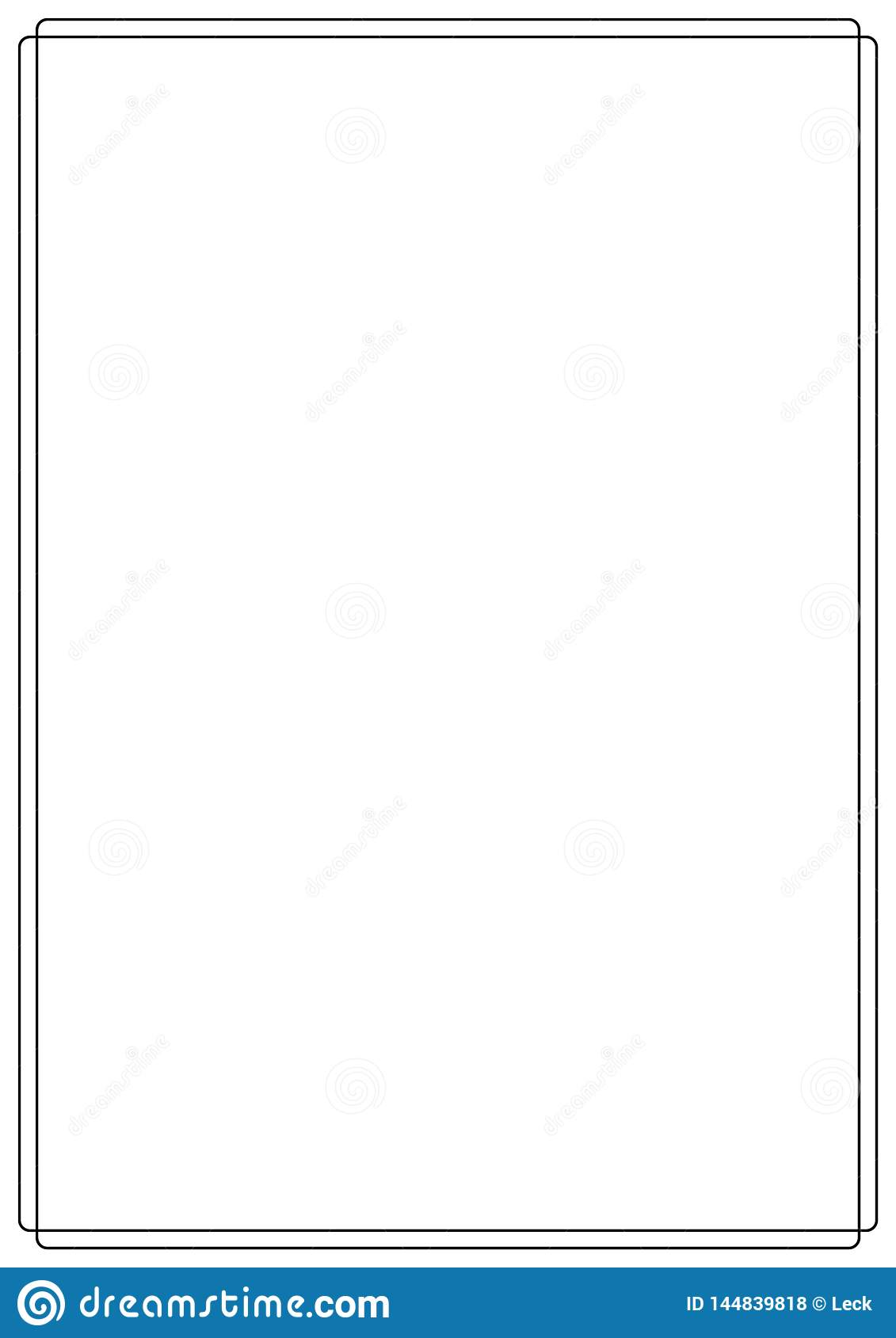 Vector Page Border A4 Design For Project Stock Vector