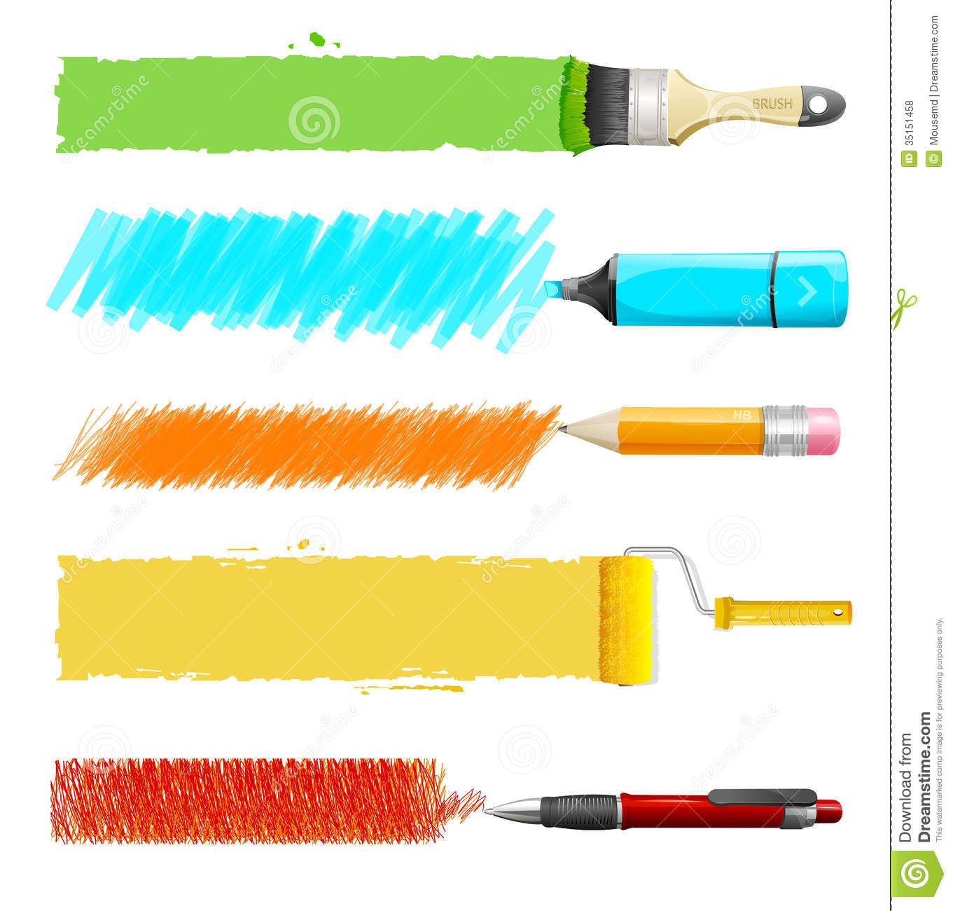 Vector Paint Icon Set Royalty Free Stock Photos - Image: 35151458